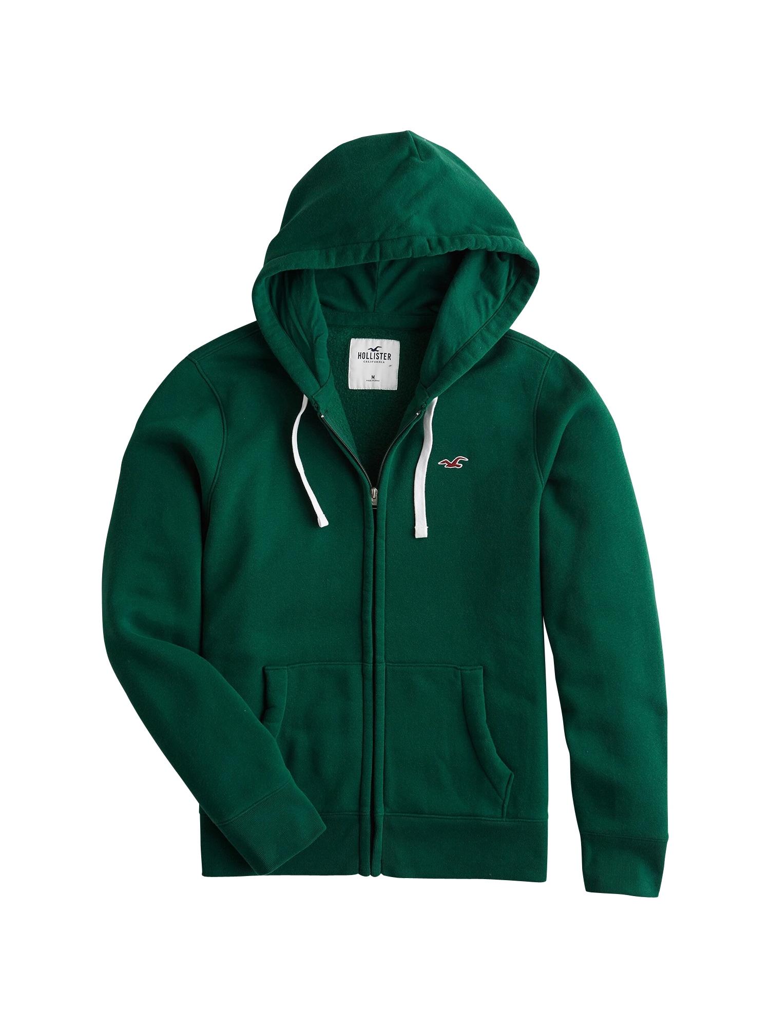 Mikina s kapucí zelená HOLLISTER