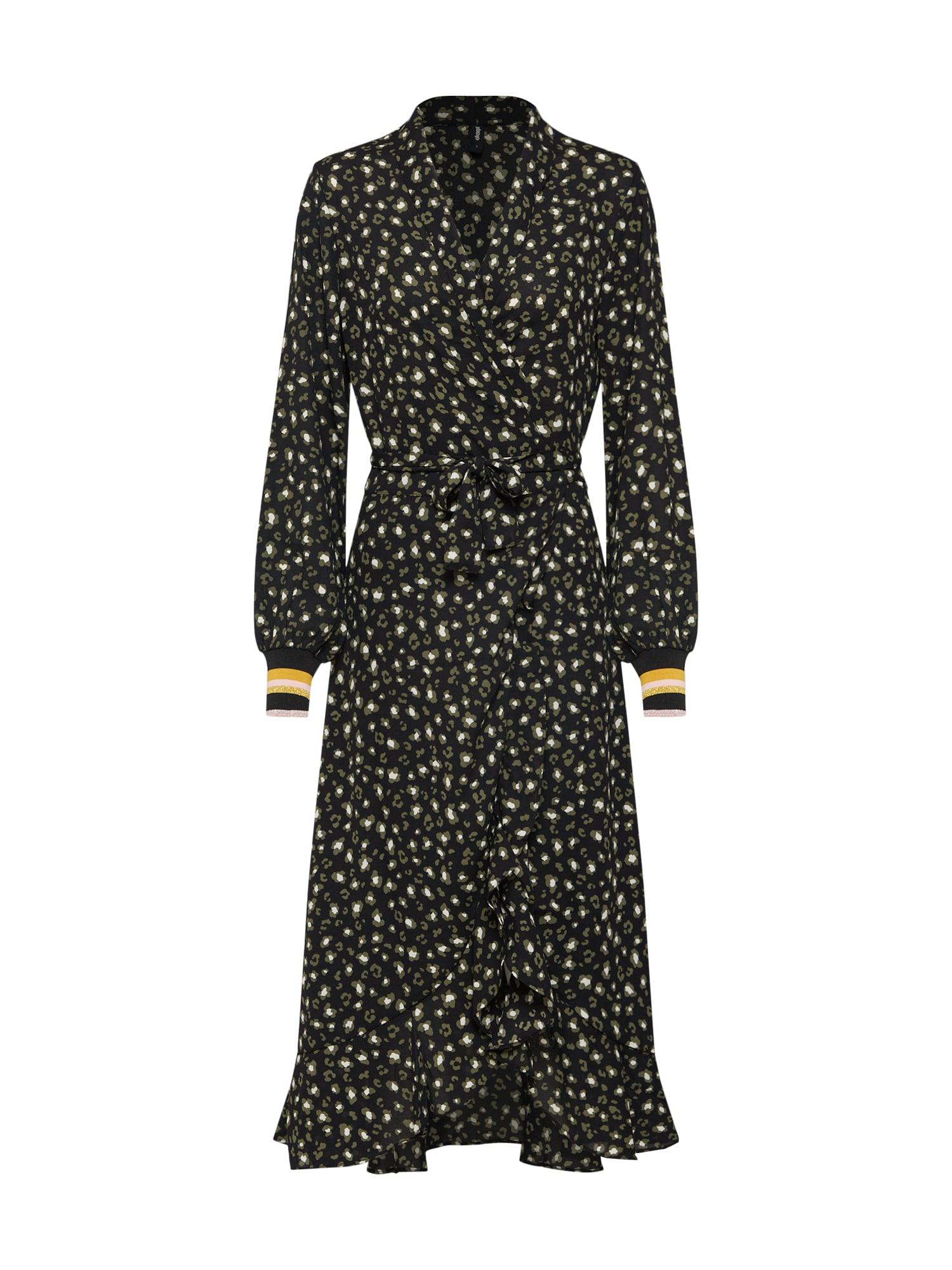 Šaty khaki mix barev černá Eksept