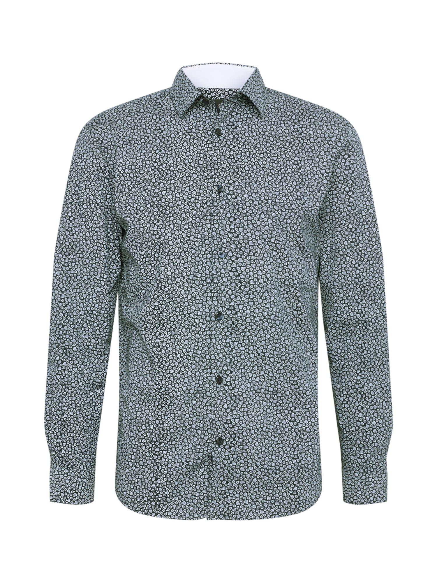 Košile DONENEW-MARK tmavě modrá šedá SELECTED HOMME