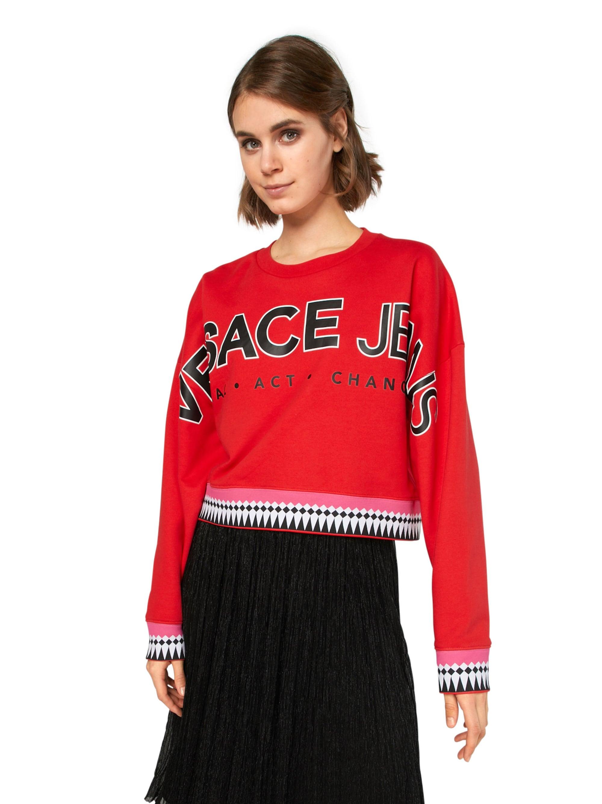 Versace Jeans Bluzka sportowa 'LIGHT RDM311'  czerwony / czarny