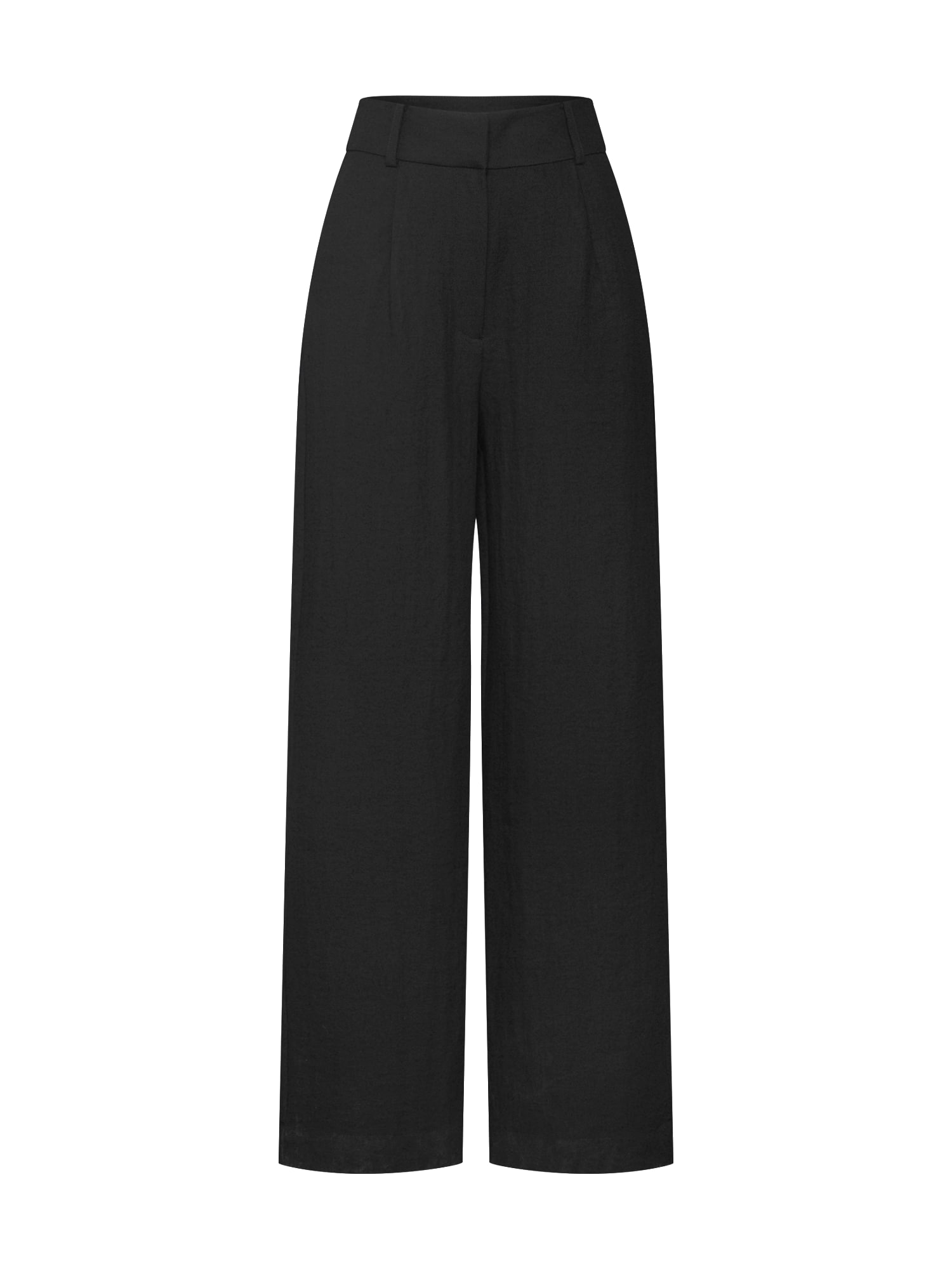 Kalhoty se sklady v pase Juna černá EDITED