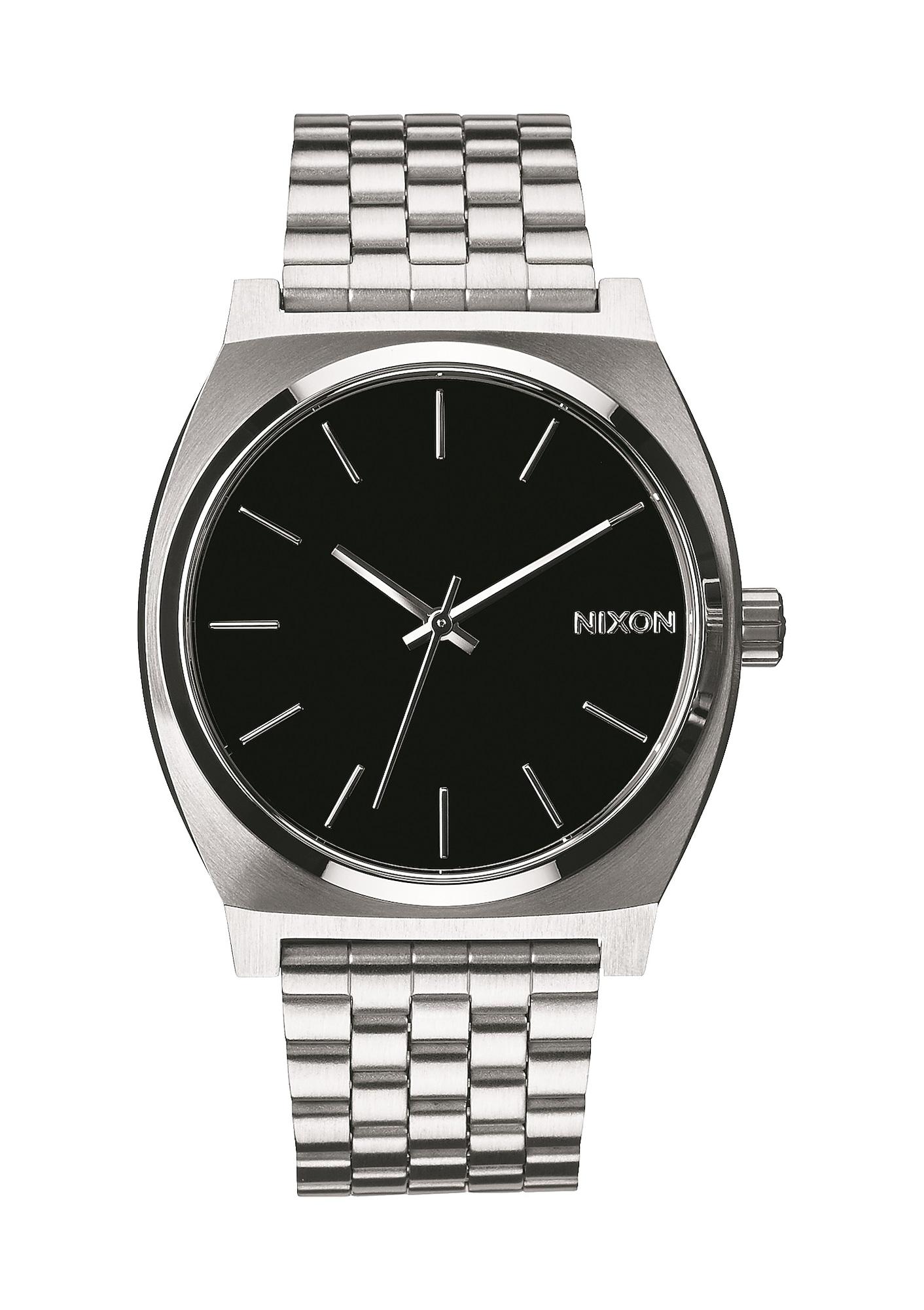 Analogové hodinky Time Teller černá stříbrná Nixon