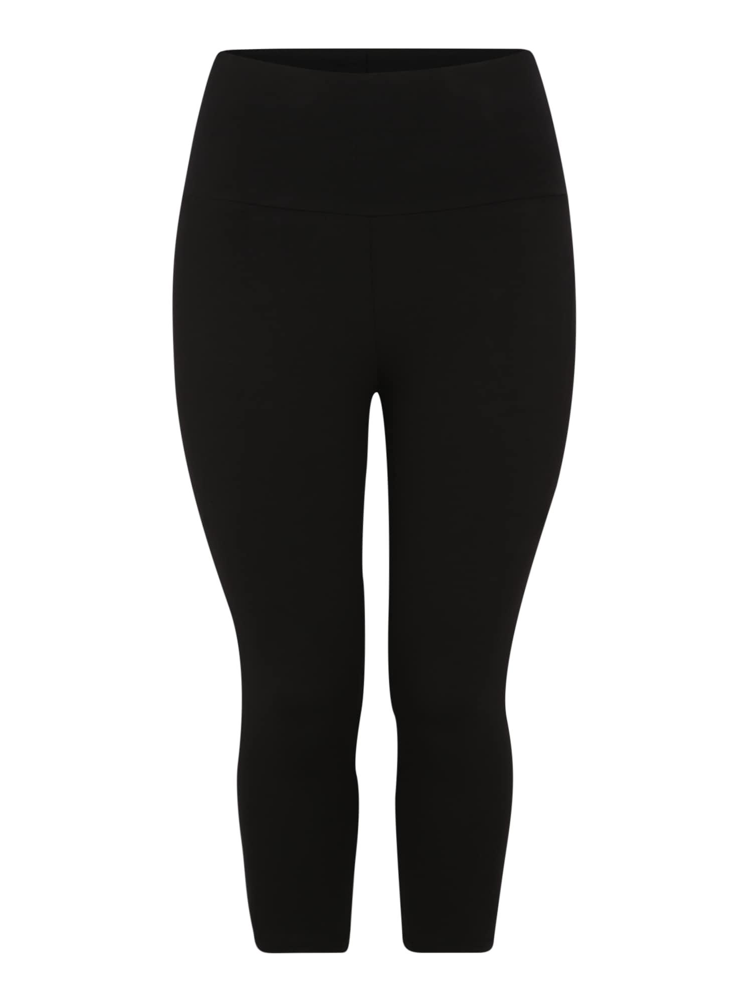 Sportovní kalhoty onpFOLD JAZZ KNICKERS FIT CURVYOPUS černá Only Play Curvy