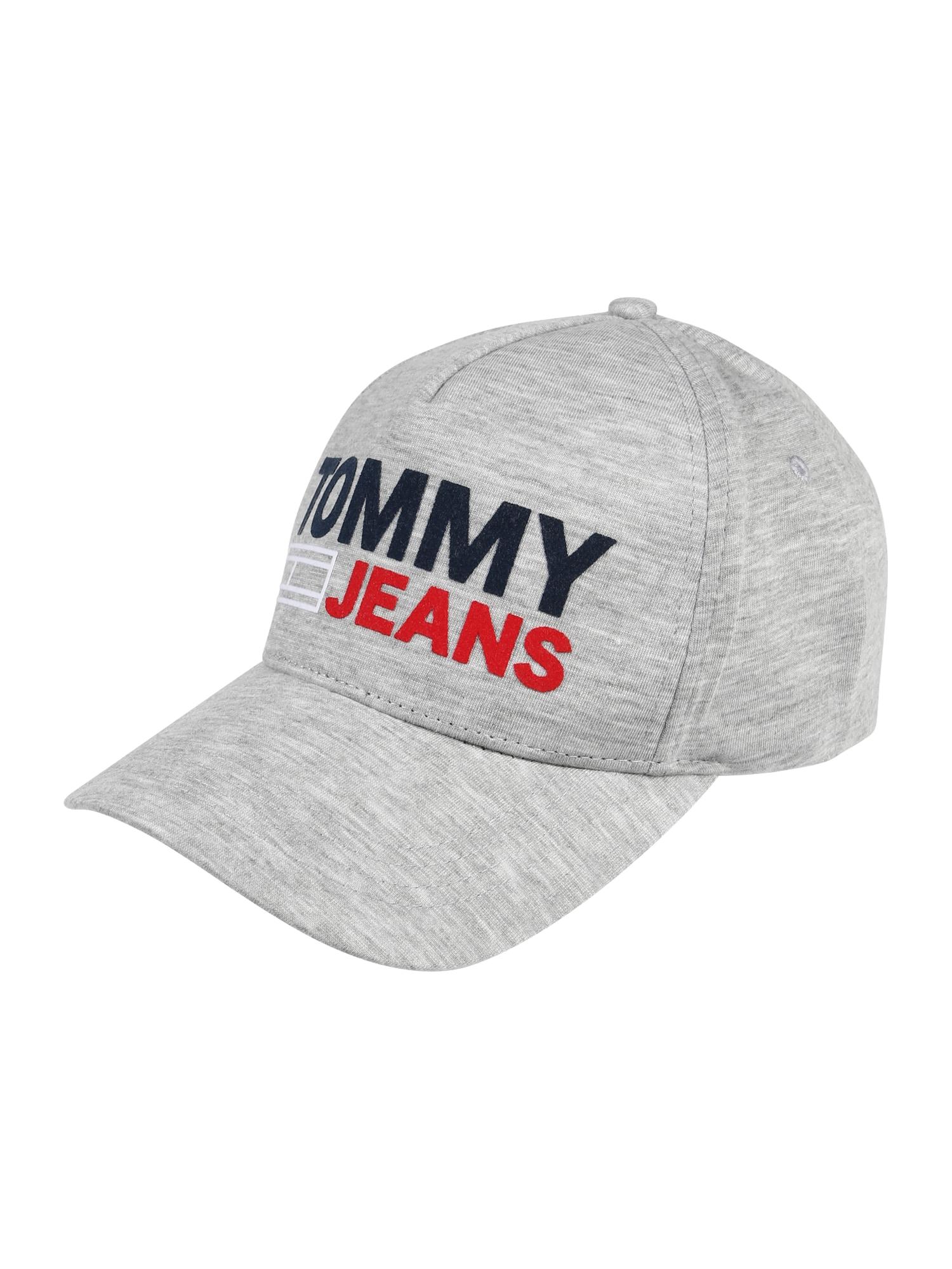 Čepice TJU FLOCK CAP světle šedá Tommy Jeans