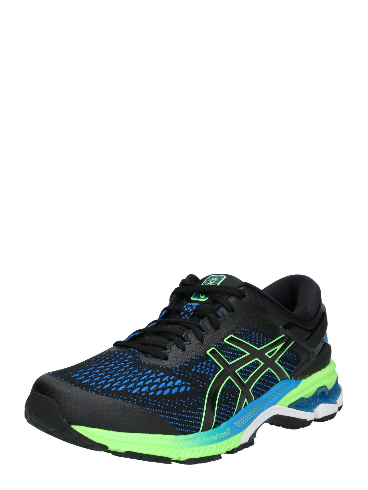 Běžecká obuv GEL-KAYANO 26 tmavě modrá svítivě zelená černá ASICS