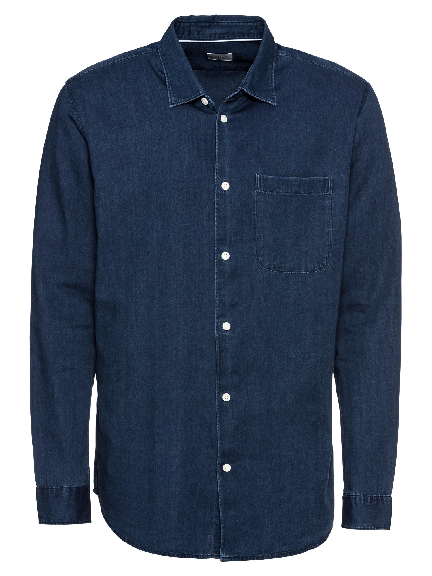 Košile SLHSLIMNOLAN SHIRT LS MIX W modrá džínovina SELECTED HOMME