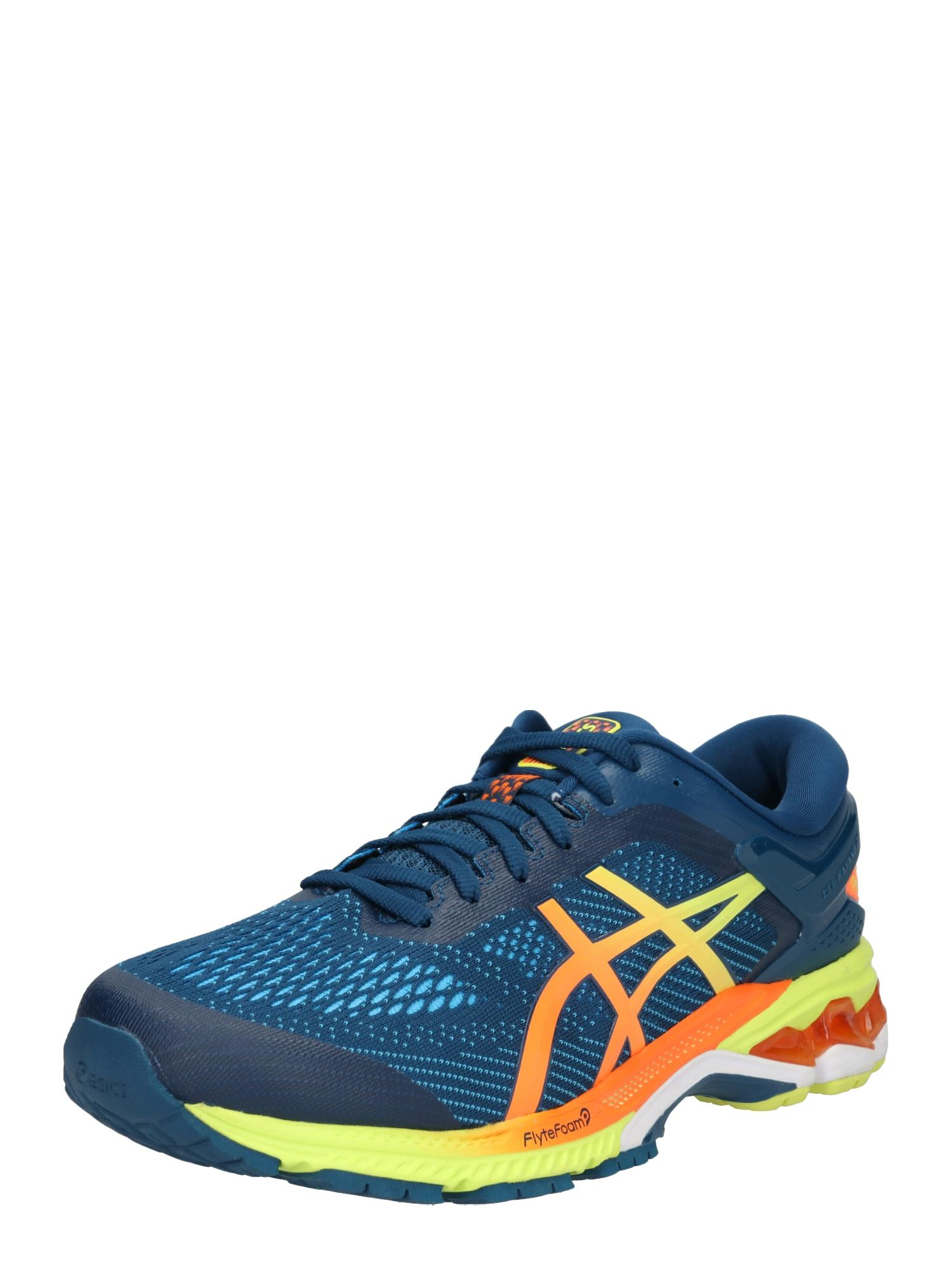 Běžecká obuv Gel-Kayano 26 nebeská modř žlutá oranžová ASICS