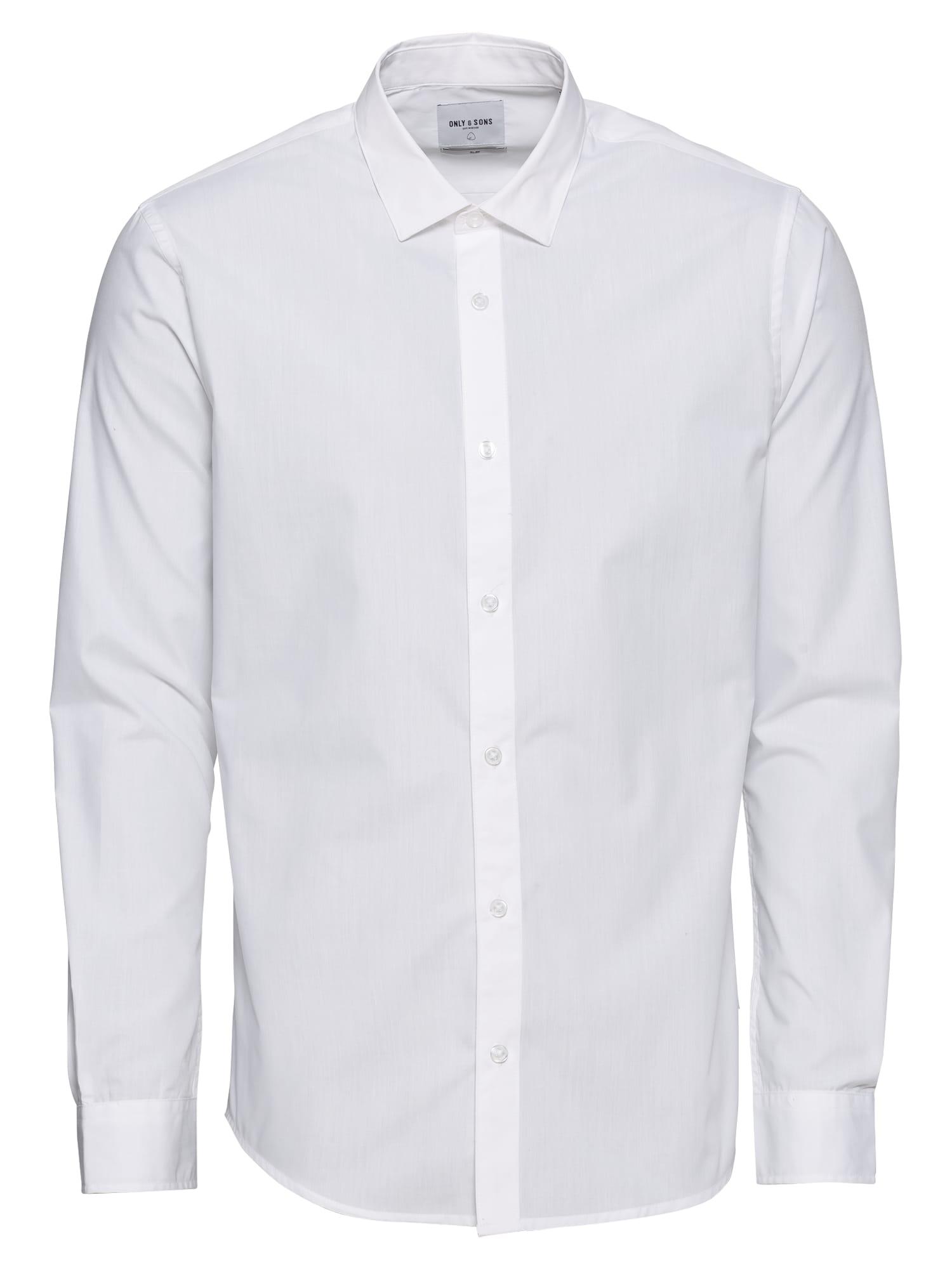Společenská košile onsWF CANNES SOLID LS SHIRT bílá Only & Sons