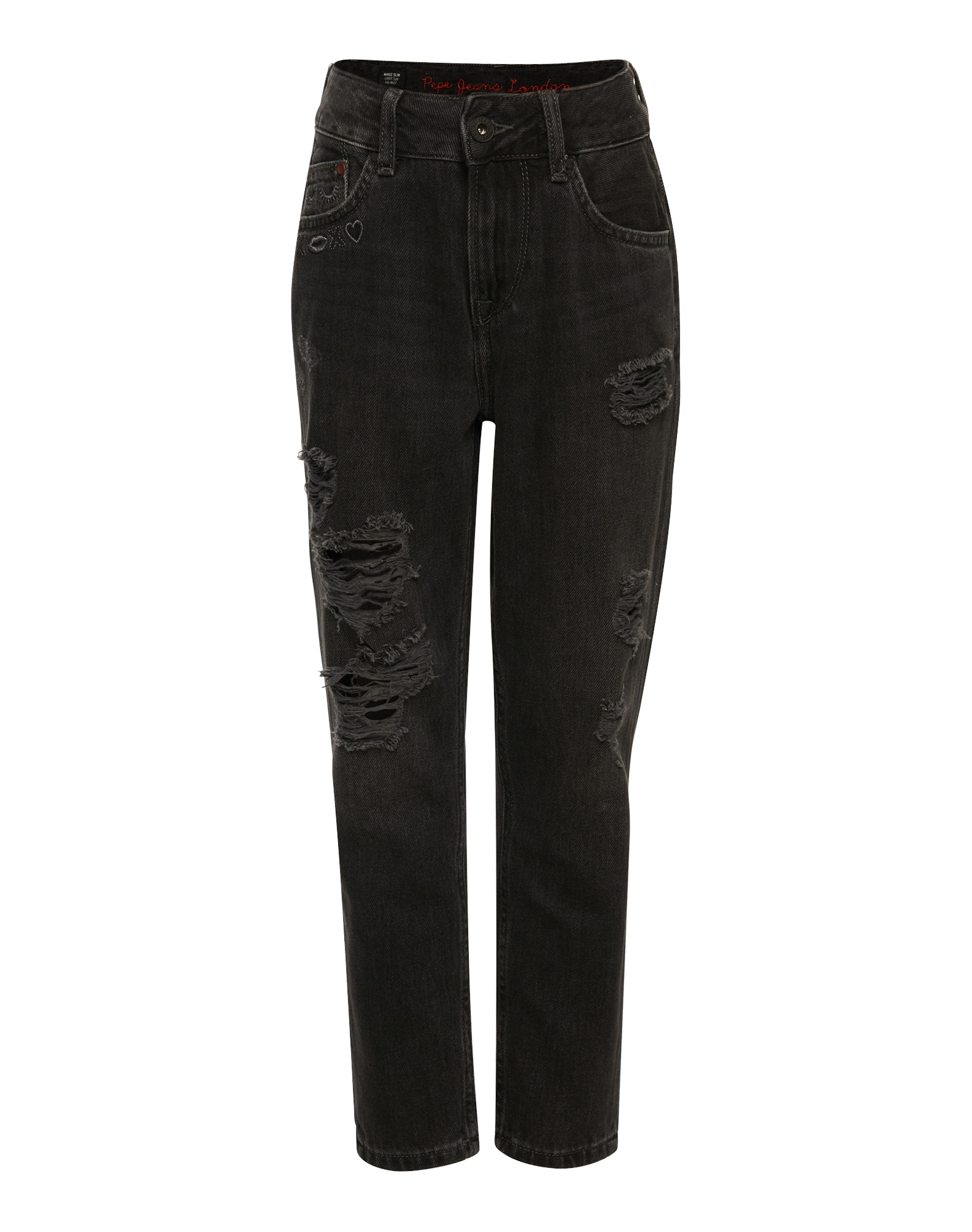 Pepe Jeans Meisjes Jeans MARGE SLIM XOXO black denim