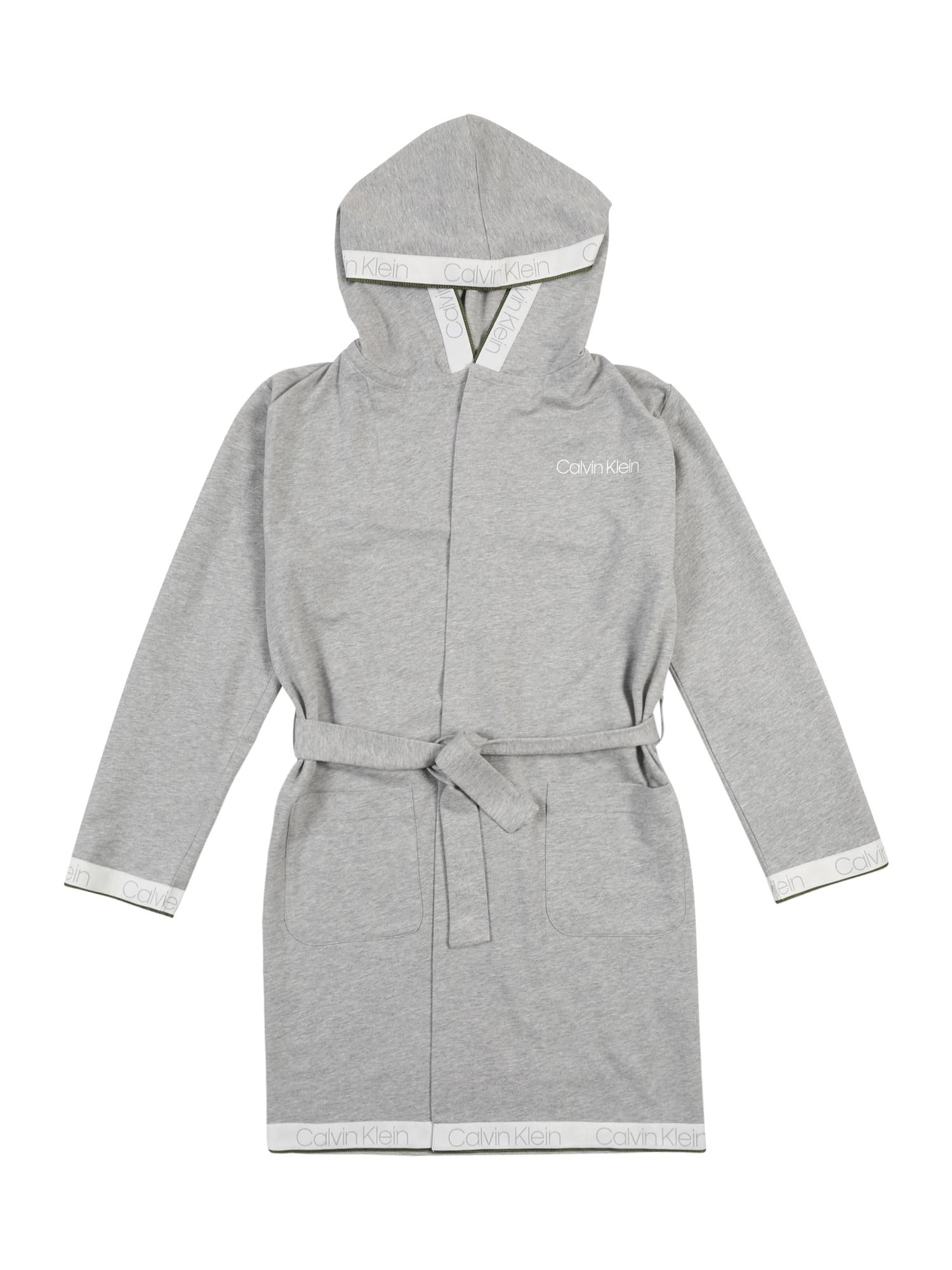 Calvin Klein Underwear Koupací plášť  šedý melír