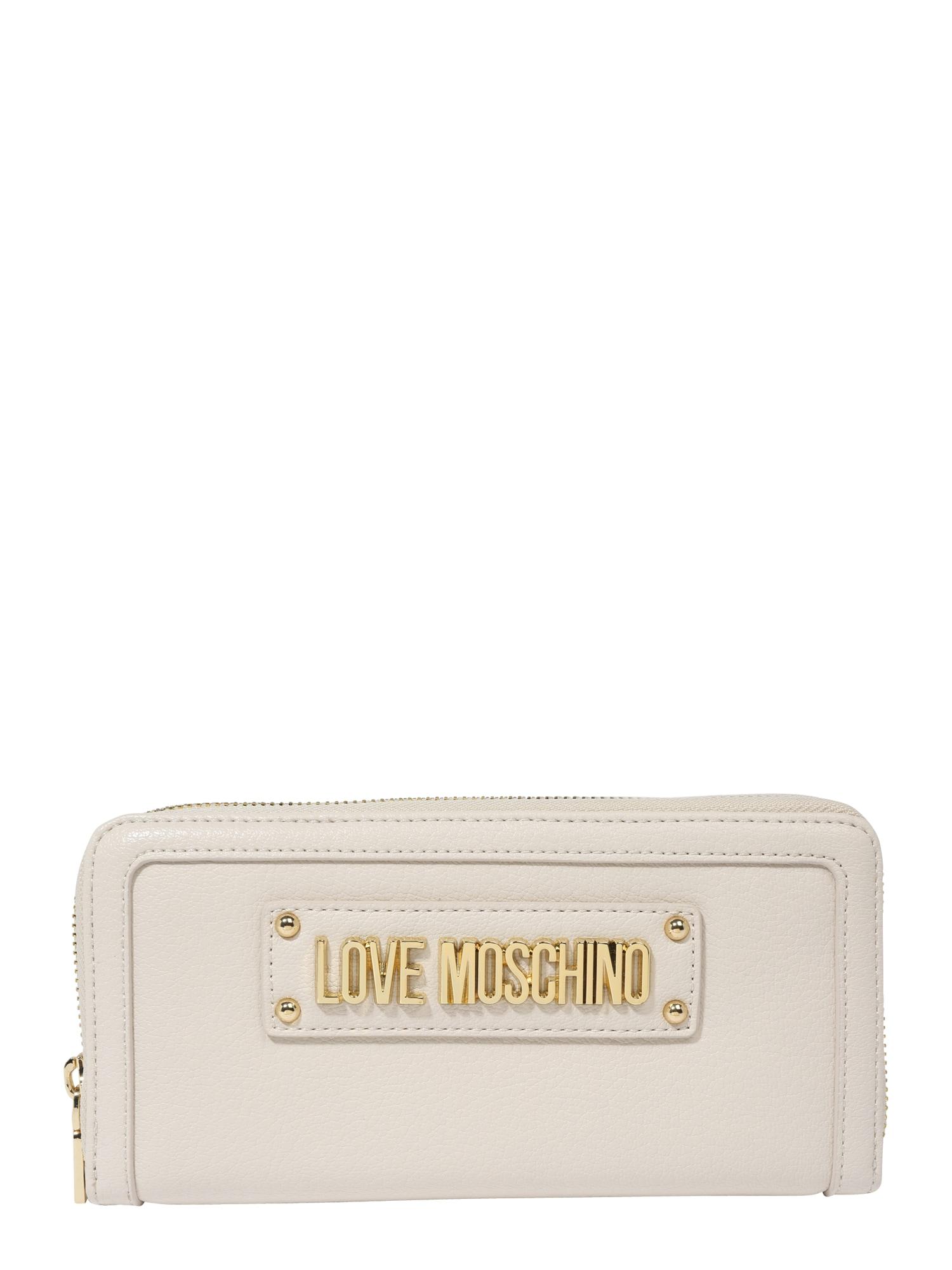 Peněženka béžová Love Moschino