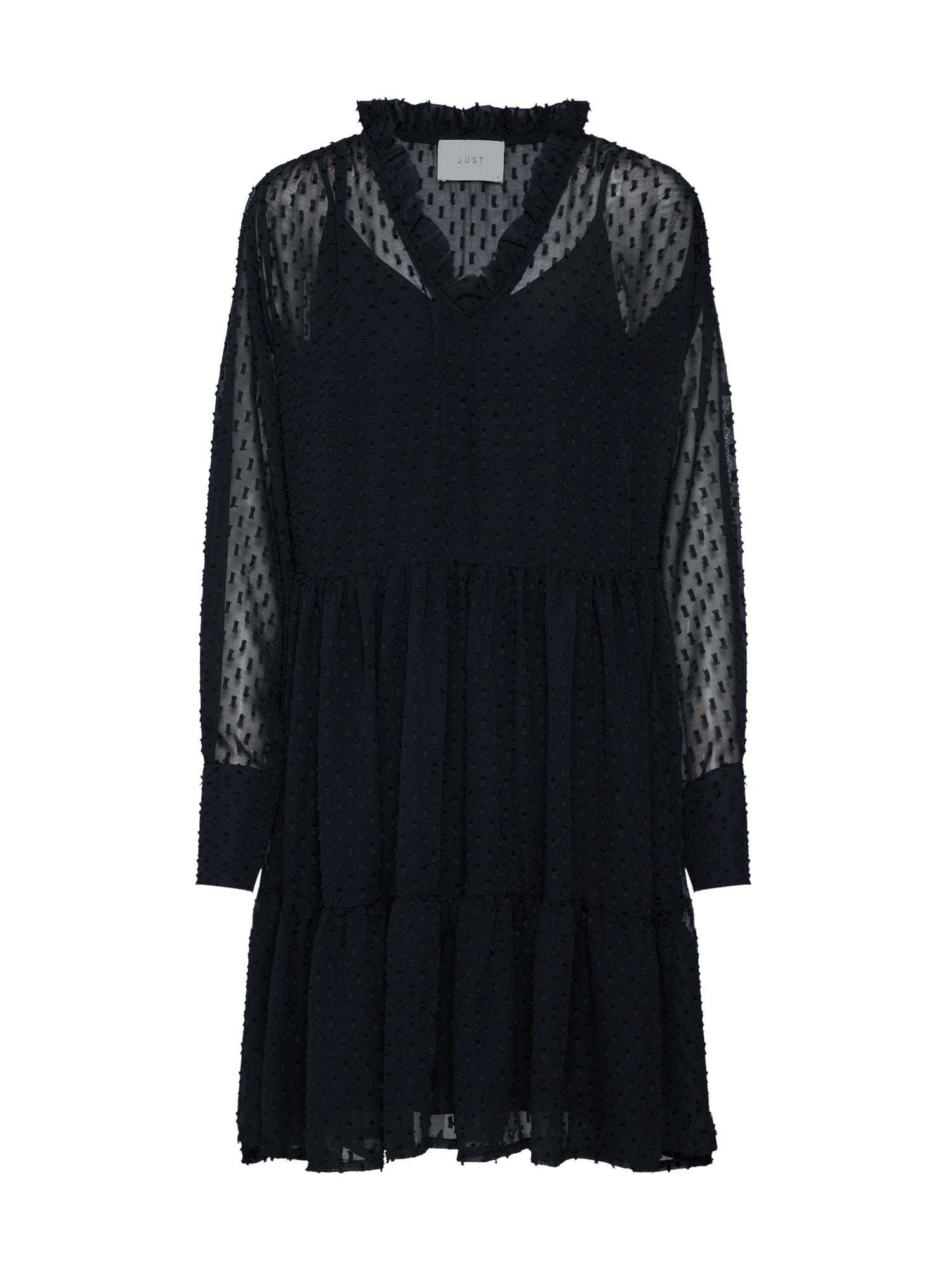Košilové šaty Marla černá JUST FEMALE