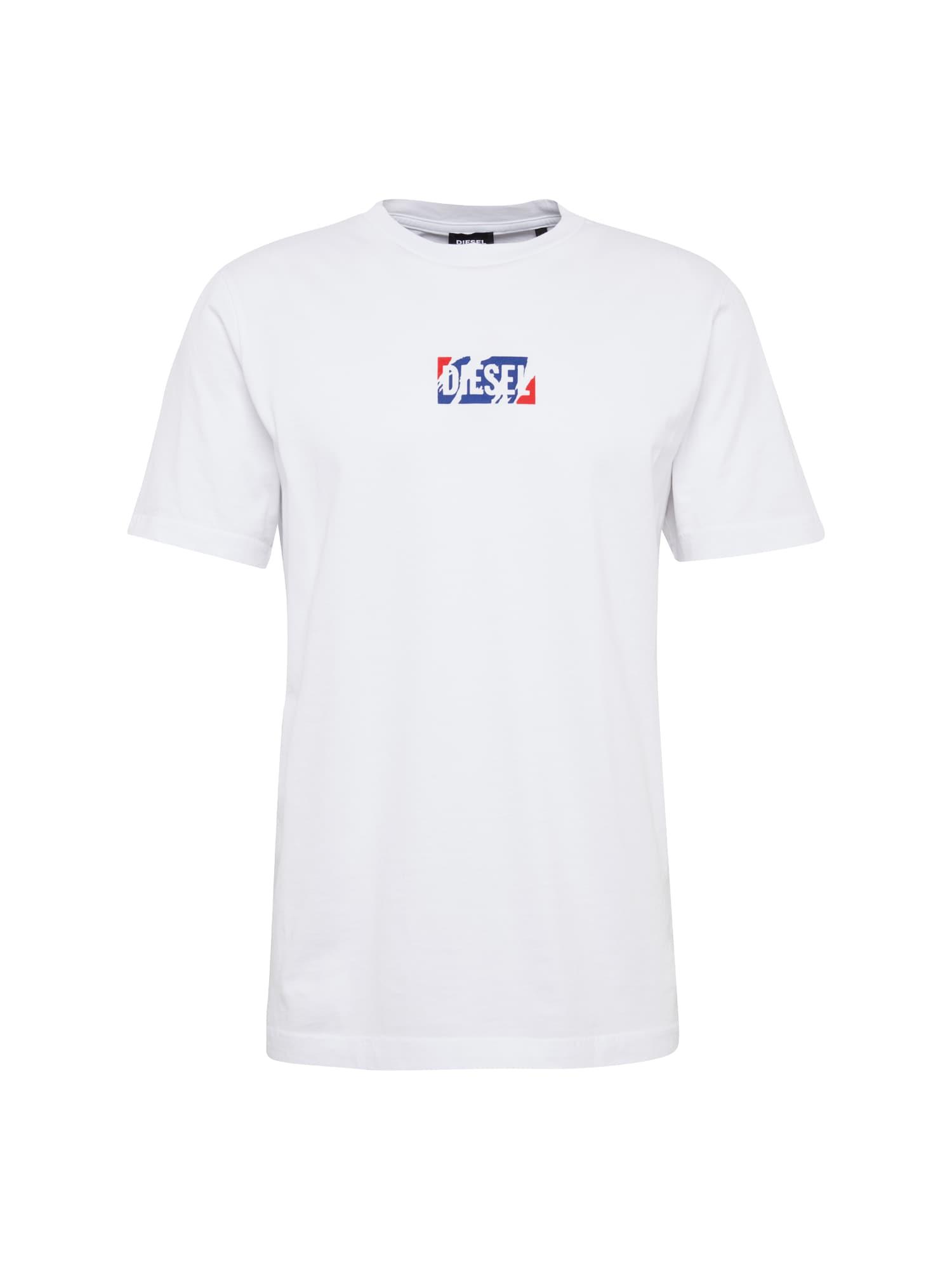 DIESEL Heren Shirt T-JUST-ZC HEMD blauw rood wit