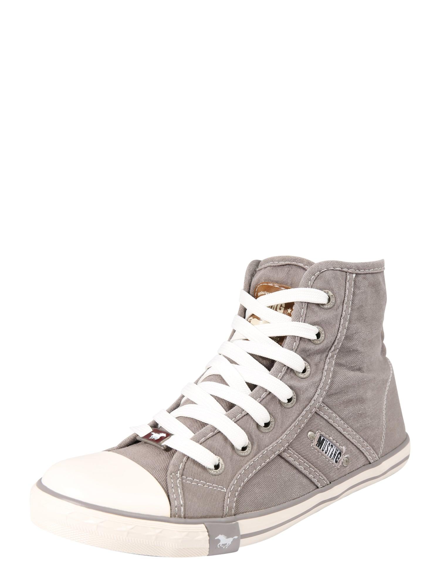 Kotníkové tenisky stříbrně šedá MUSTANG
