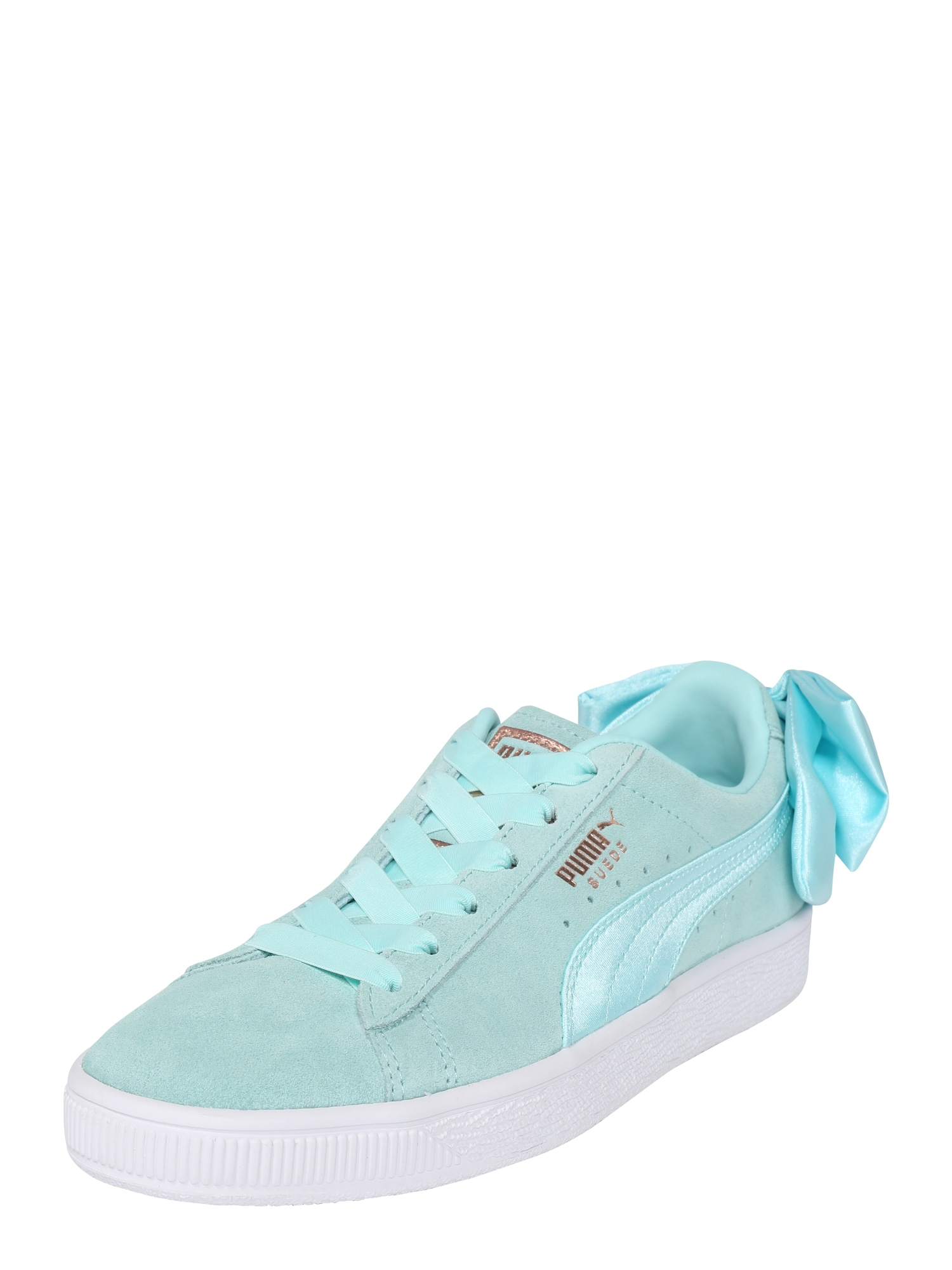 PUMA, Dames Sneakers laag 'Suede Bow', lichtblauw