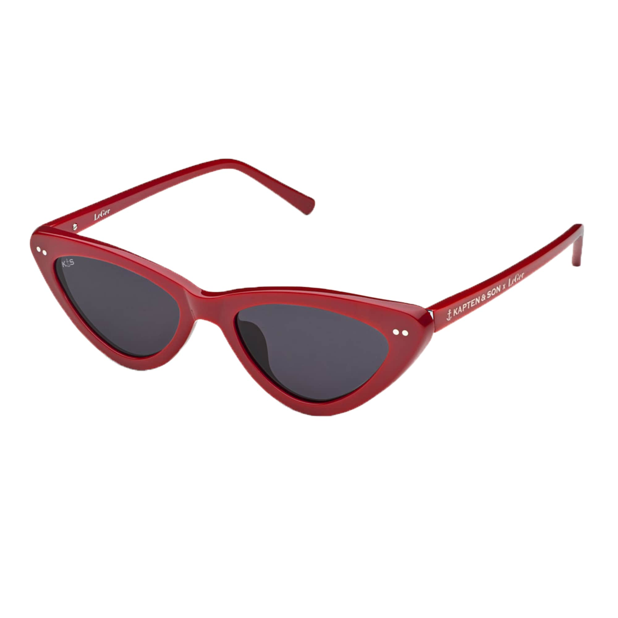 Sluneční brýle LeGer Waikiki Gloss Red červená Kapten & Son