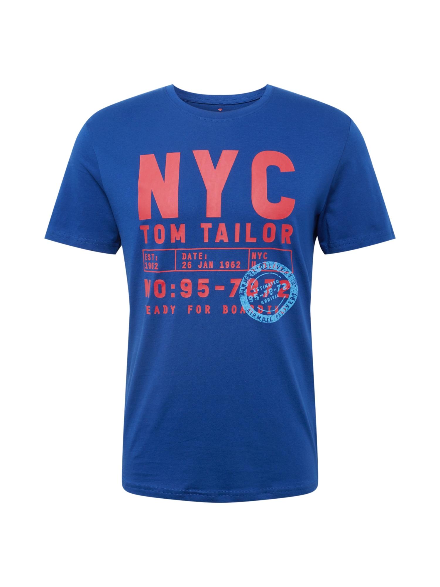 Tričko tmavě modrá světle červená TOM TAILOR