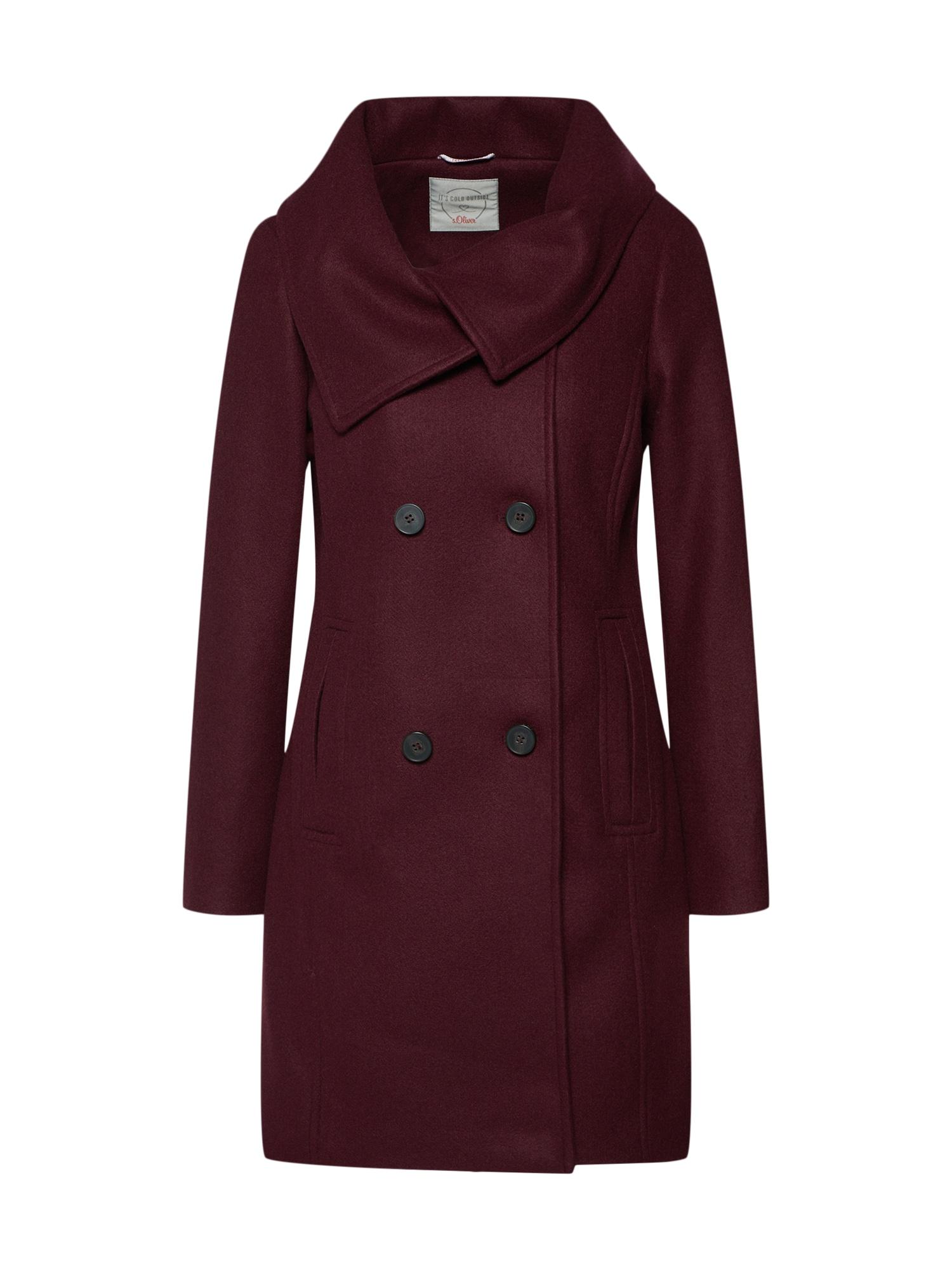 Zimní kabát bordó S.Oliver RED LABEL