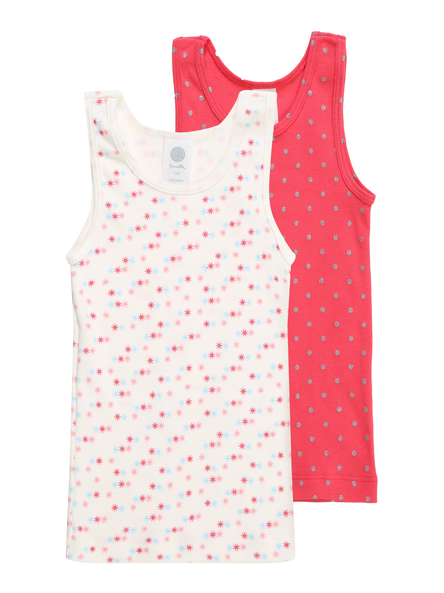 Tílko DP Shirt pink bílá SANETTA