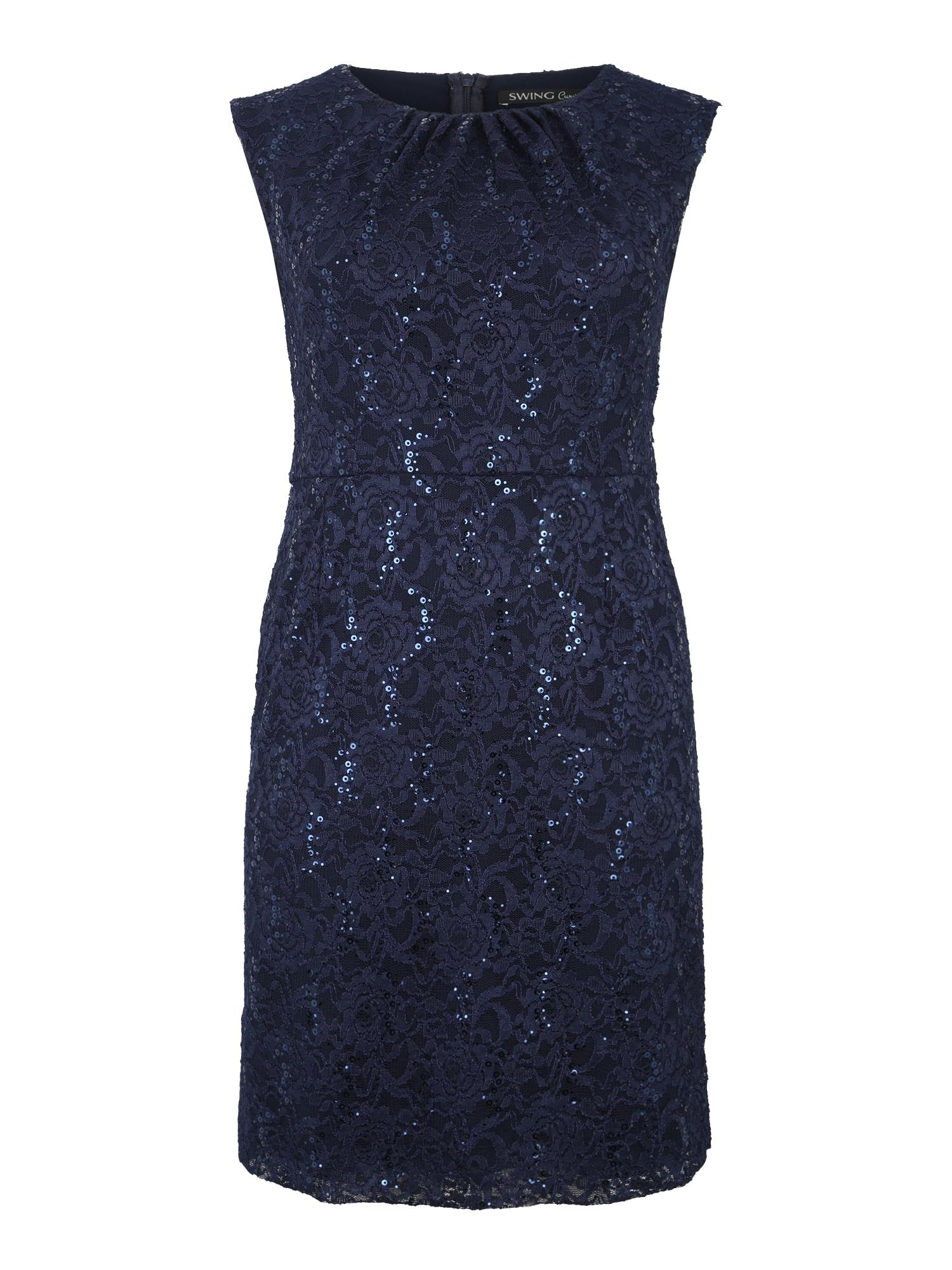 Koktejlové šaty námořnická modř SWING Curve