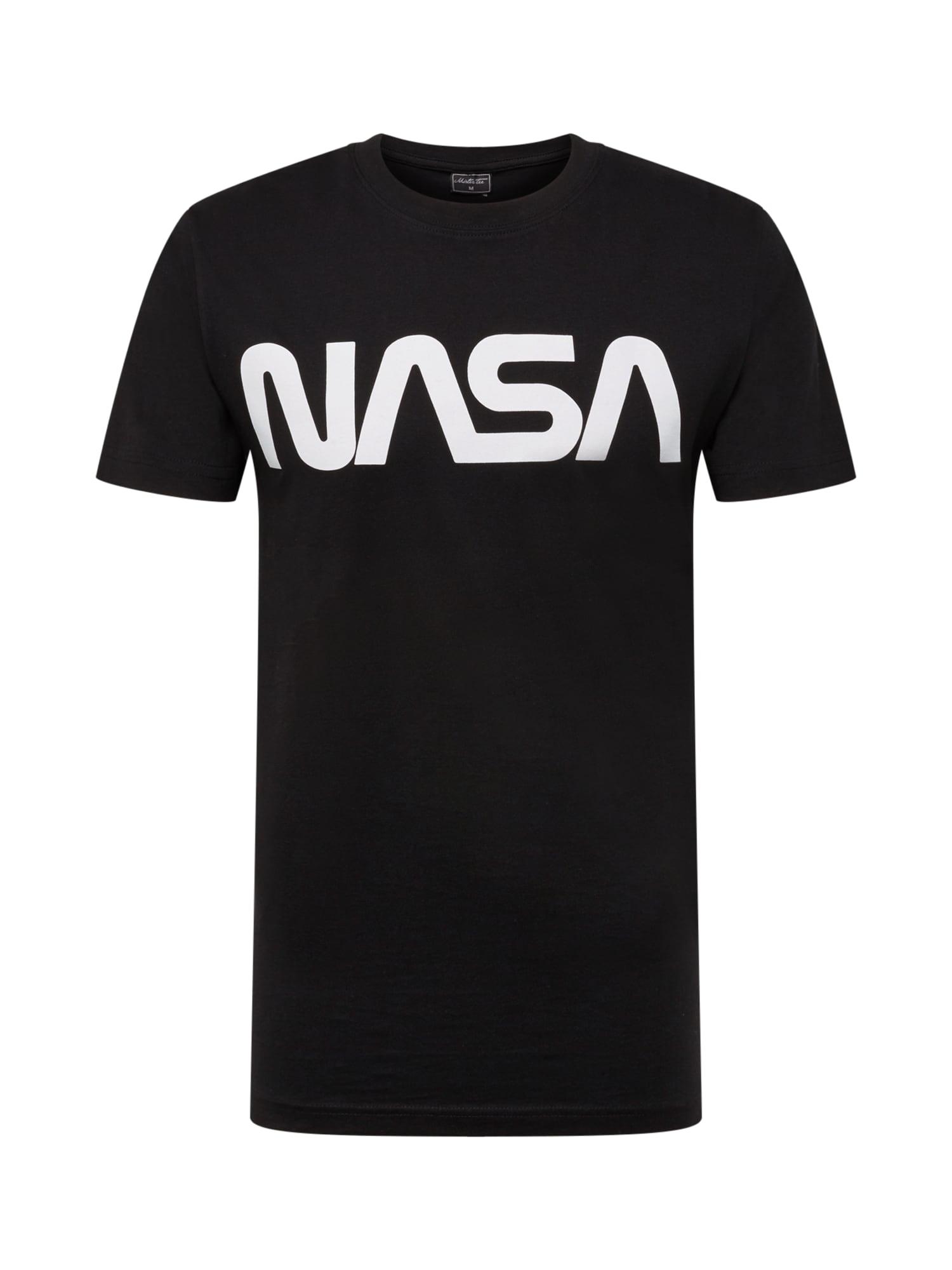 Tričko NASA Wormlogo Tee černá bílá Mister Tee