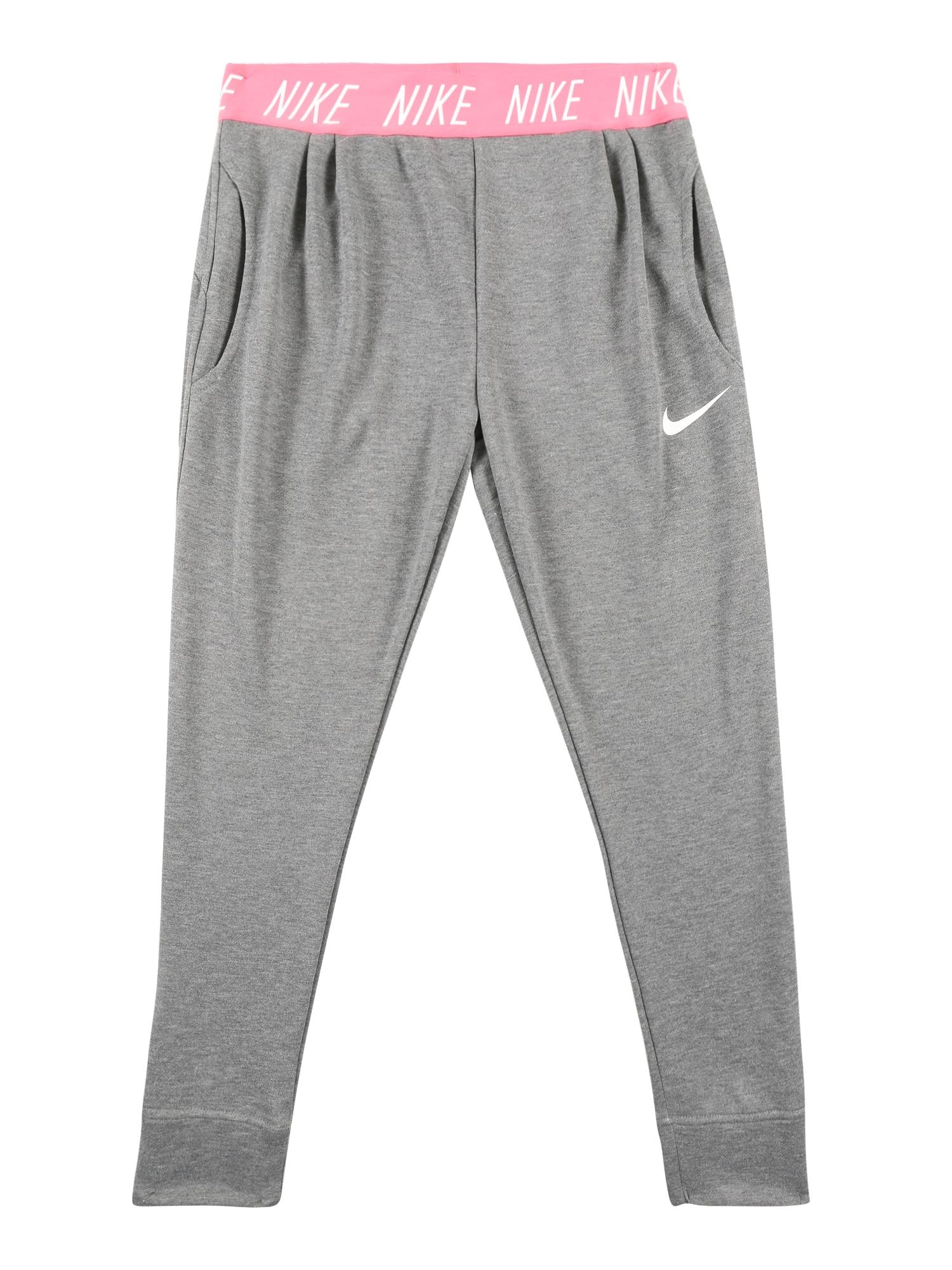 Sportovní kalhoty STUDIO šedá pink NIKE