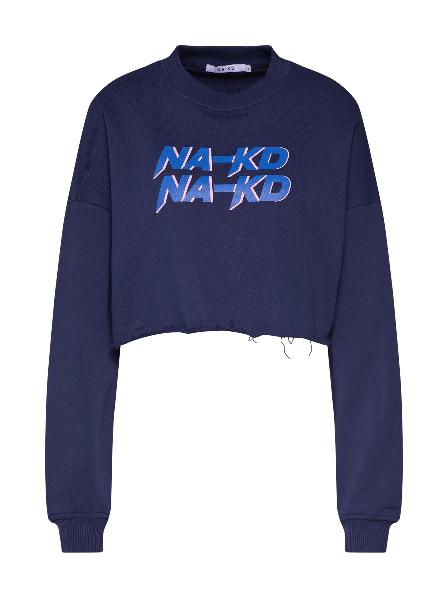 Mikina Short Sweat modrá NA-KD