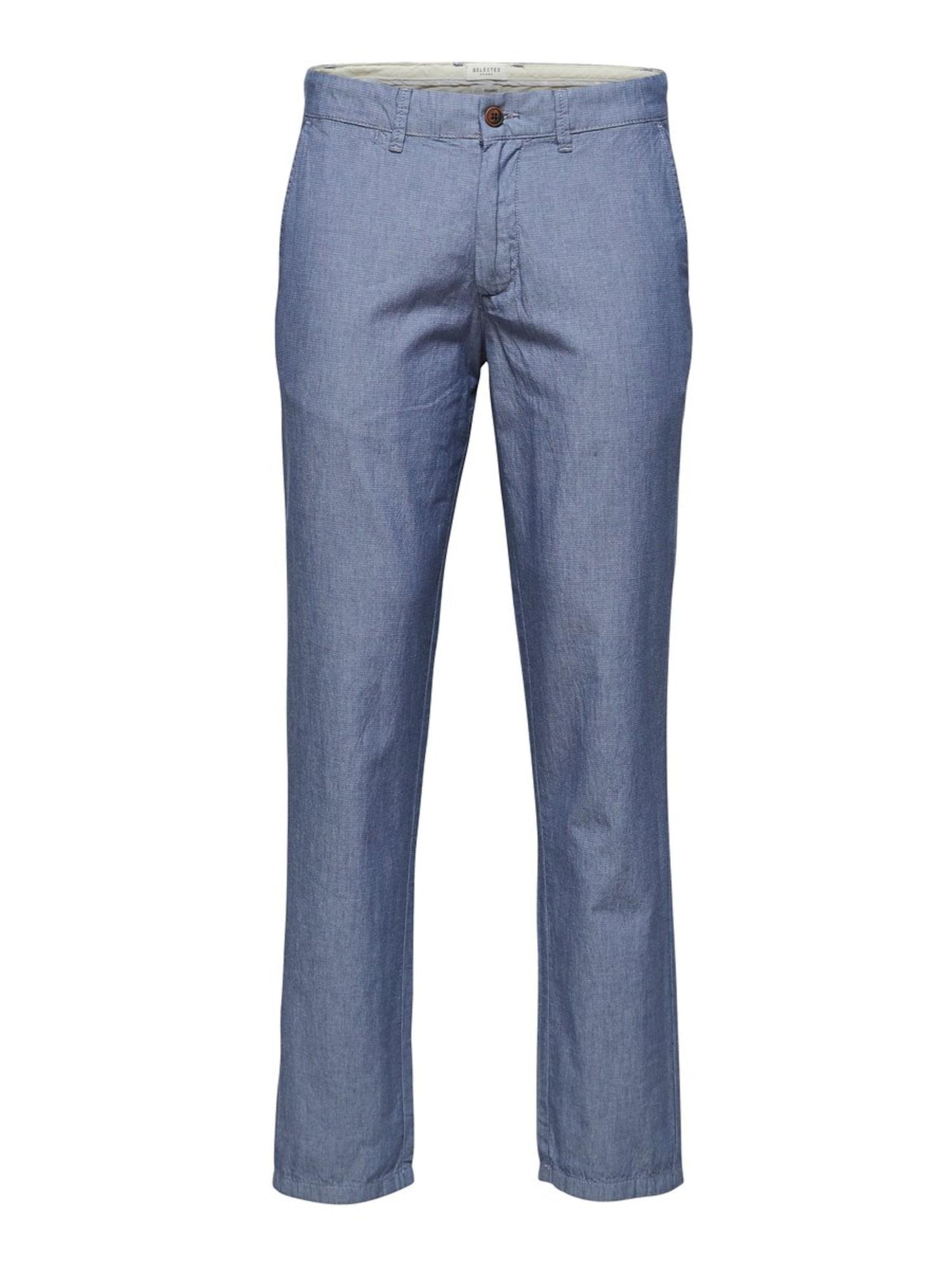 SELECTED HOMME Kalhoty  modrý melír