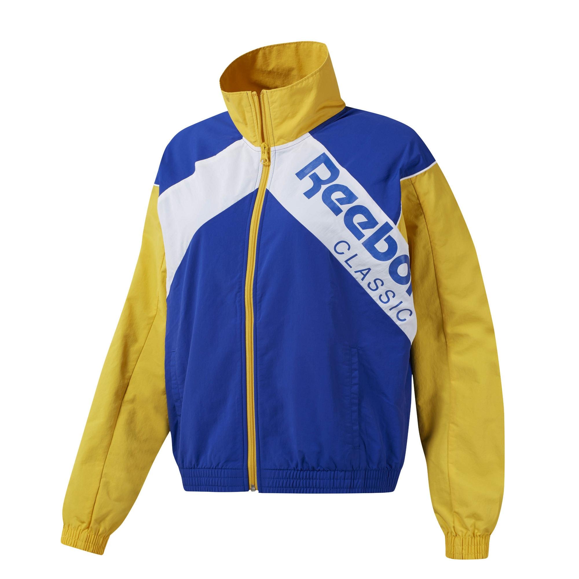 Trainingsjacke | Sportbekleidung > Sportjacken > Trainingsjacken | Blau - Gelb - Weiß | Reebok Classic