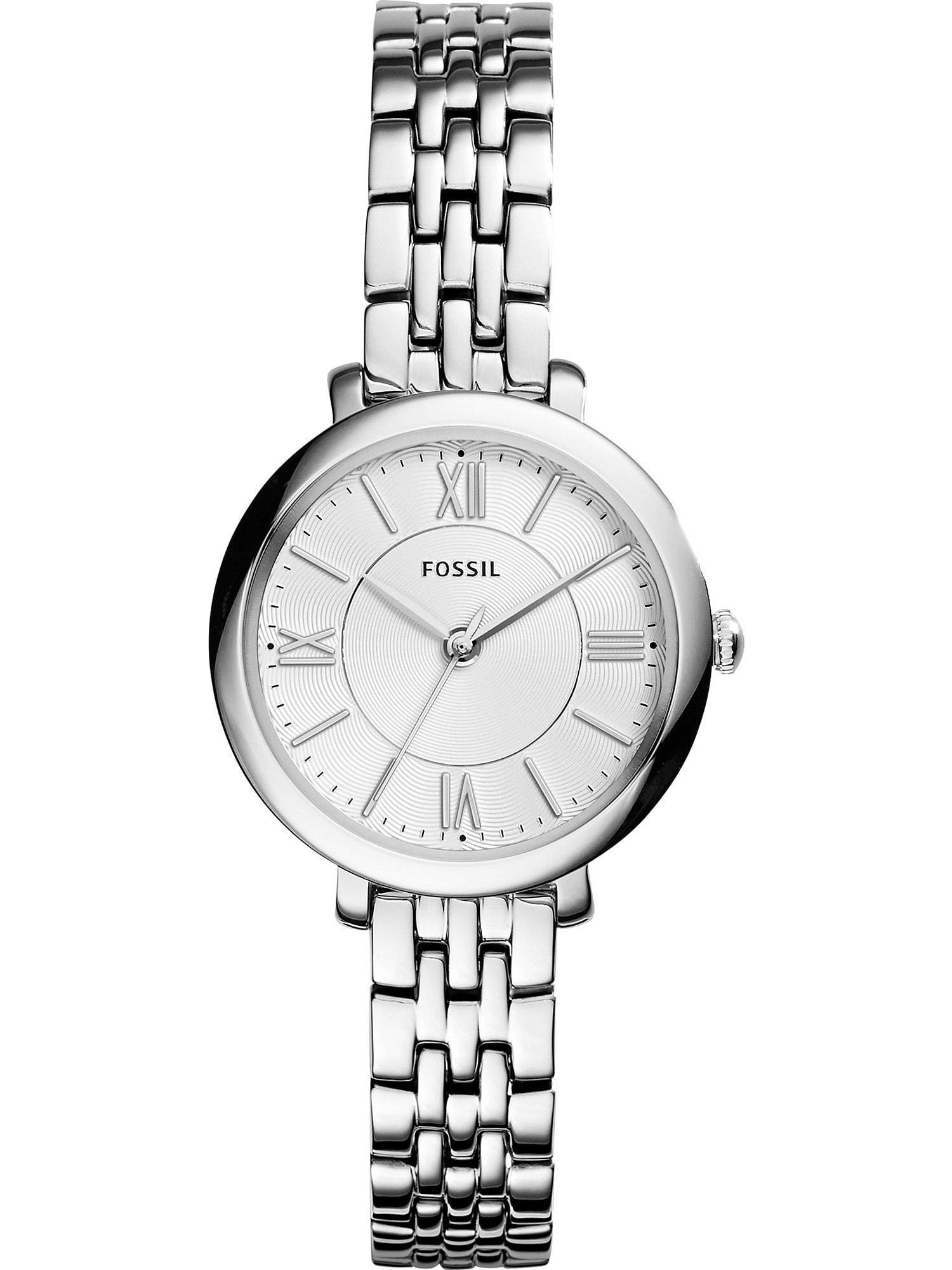 Analogové hodinky Jacqueline stříbrná bílá FOSSIL