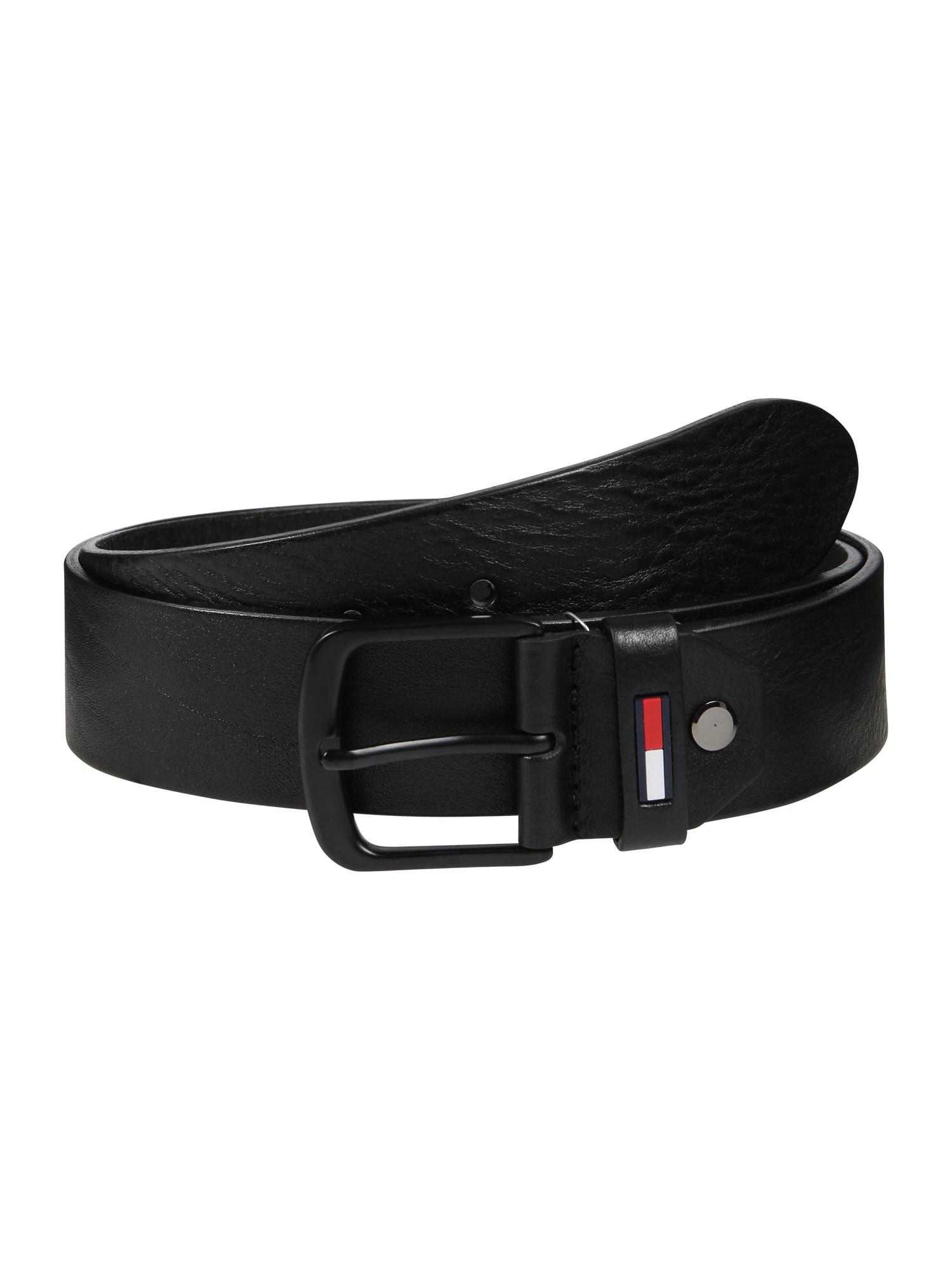 Opasek TJM Flag Loop Belt 4.0 ADJ černá Tommy Jeans