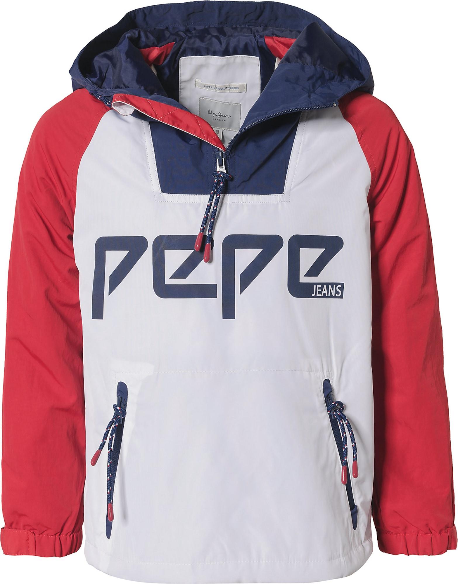 Přechodná bunda Hampshire námořnická modř červená bílá Pepe Jeans