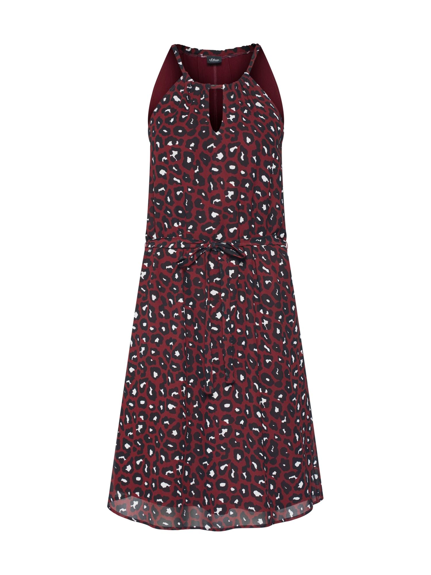 Šaty červená černá bílá S.Oliver BLACK LABEL