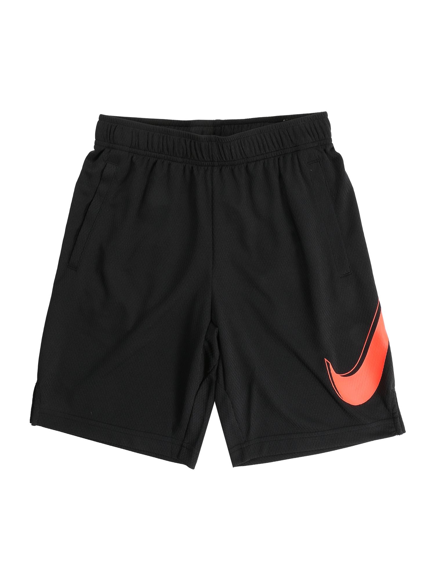 Sportovní kalhoty červená černá NIKE