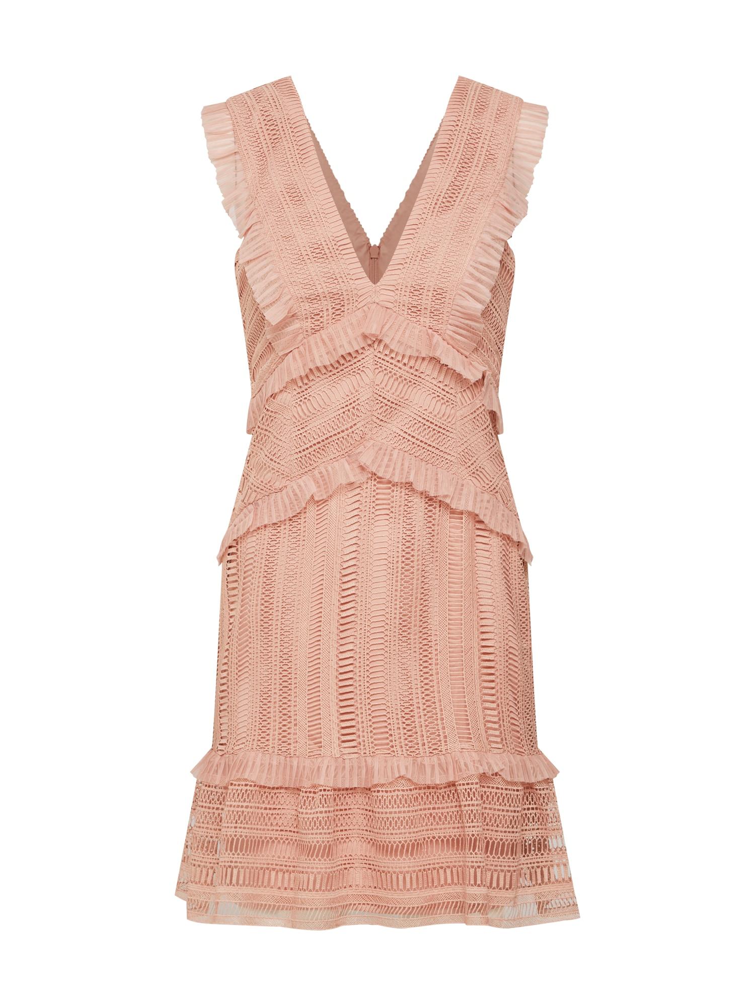 Šaty KRISTEN LACE DRESS růžová Bardot