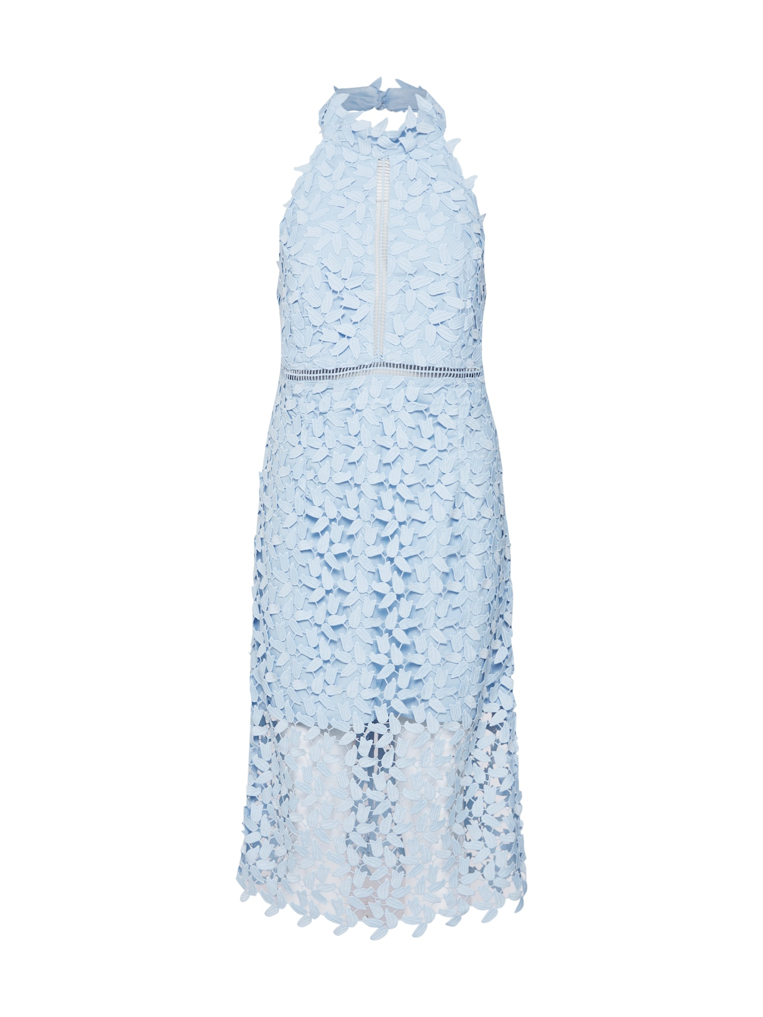 Koktejlové šaty Gemma světlemodrá Bardot