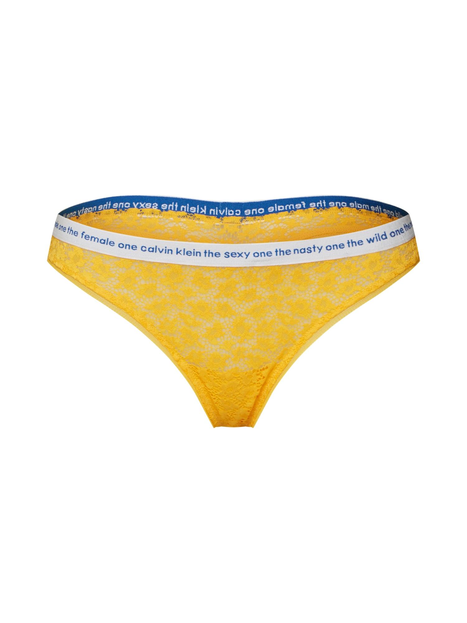 Tanga 000QF5200E jasně oranžová Calvin Klein Underwear
