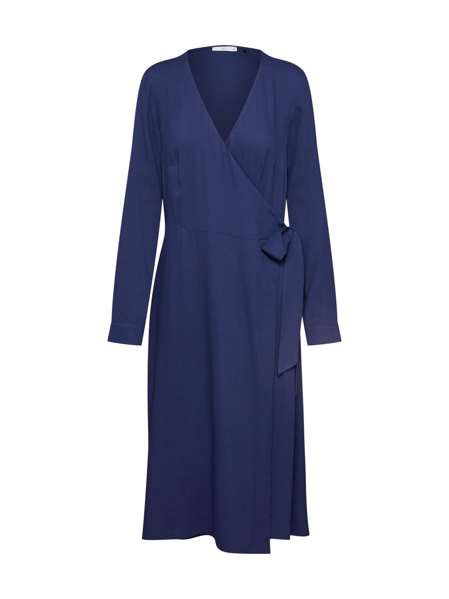 EDC BY ESPRIT Šaty 'Wrap dress'  námořnická modř
