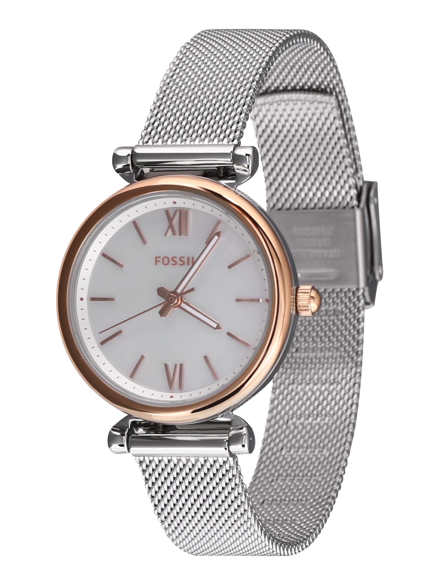 Analogové hodinky ES4614 zlatá stříbrná FOSSIL