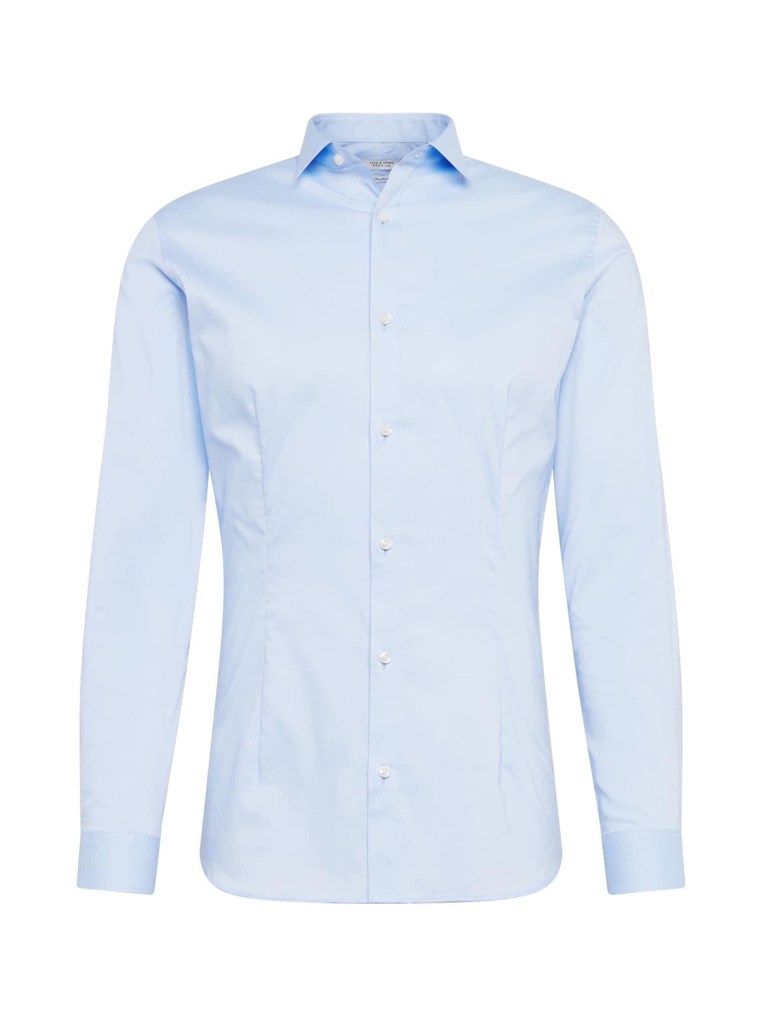 Společenská košile jjprPARMA SHIRT LS NOOS světlemodrá JACK & JONES