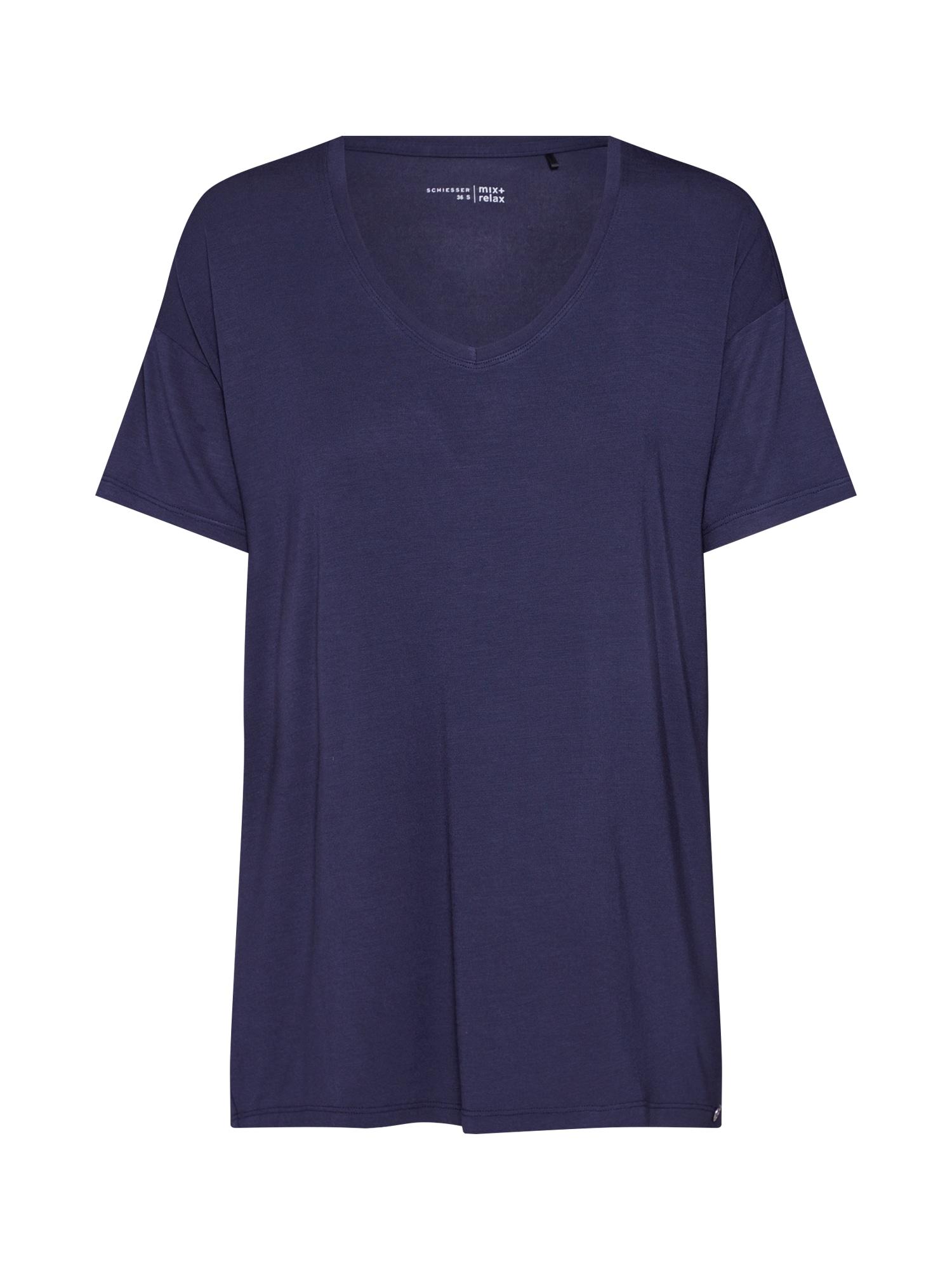 Tričko na spaní noční modrá SCHIESSER