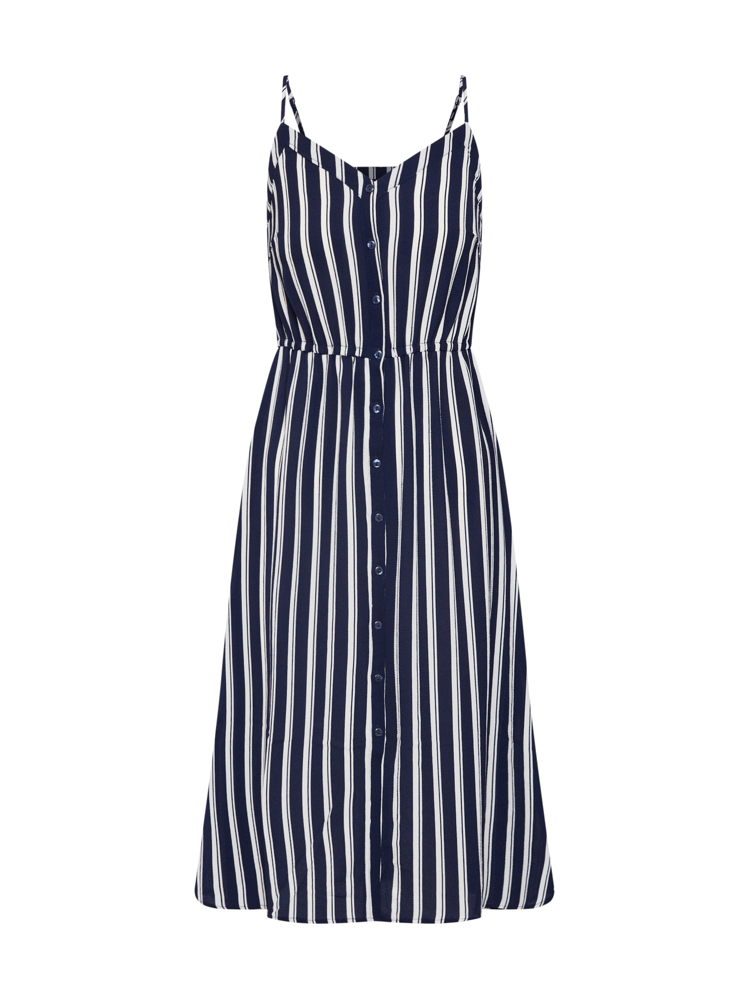 Letní šaty VMSASHA námořnická modř bílá VERO MODA
