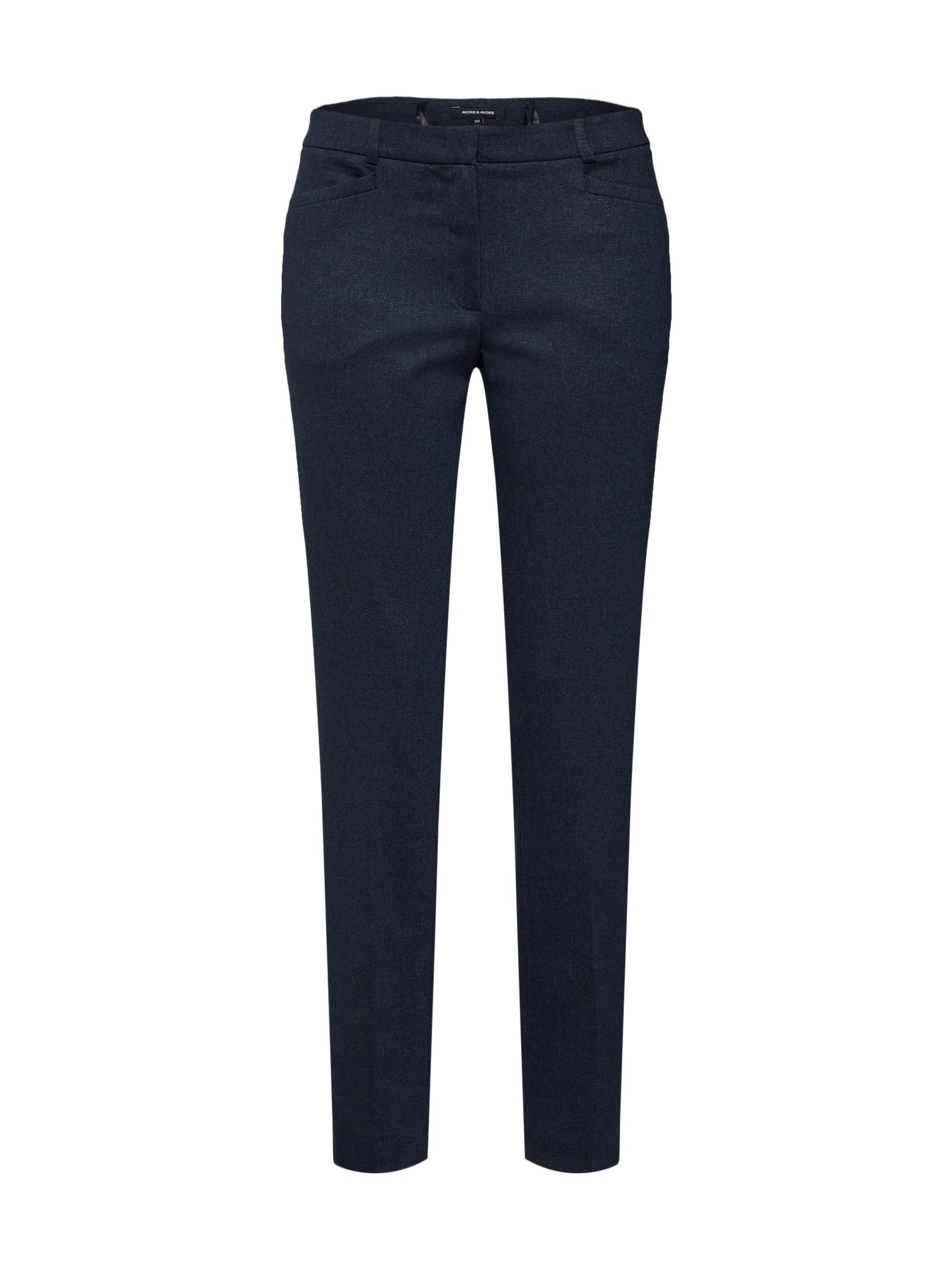 Kalhoty s puky marine modrá MORE & MORE