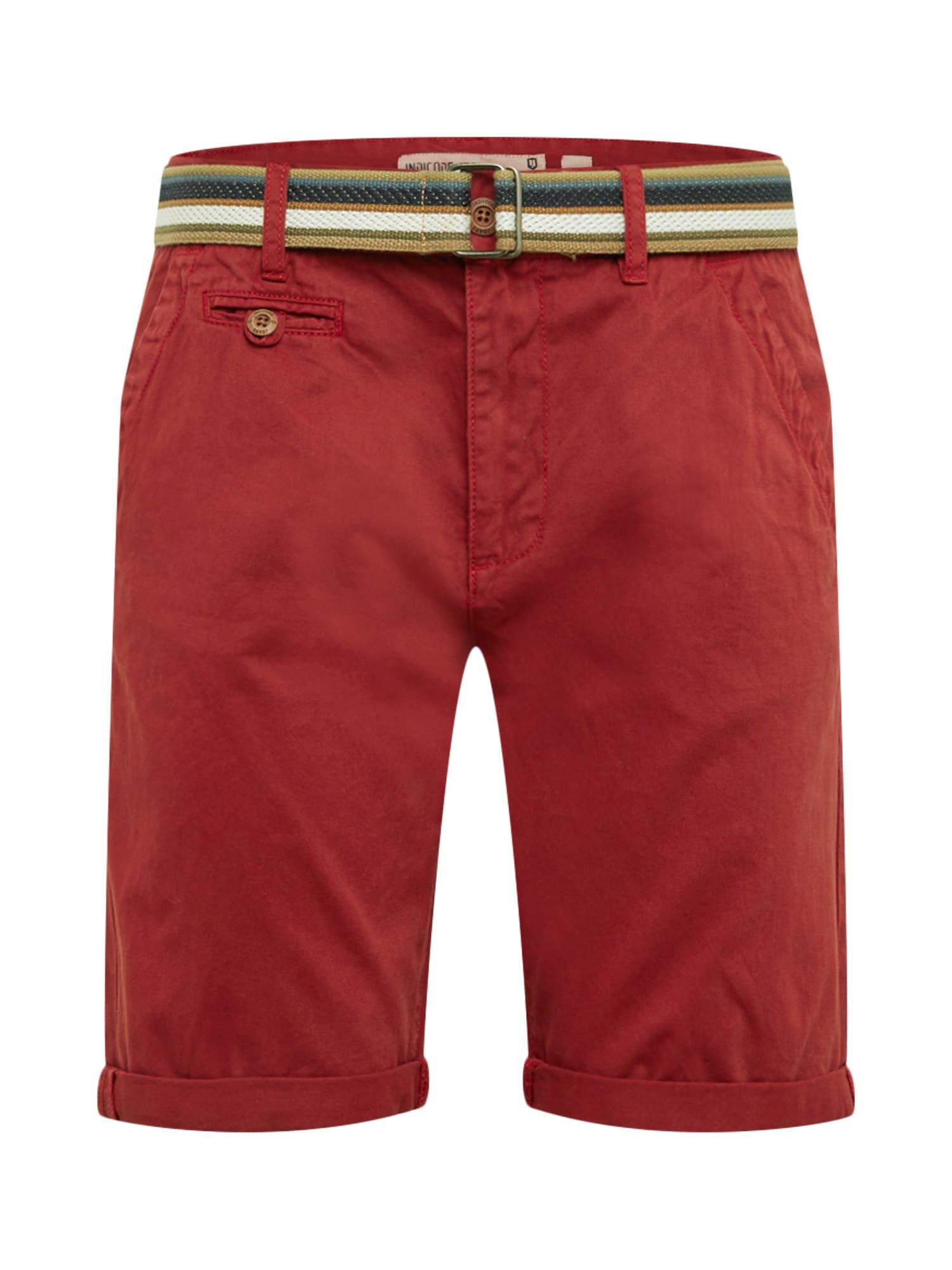 Chino kalhoty Royce červená INDICODE JEANS