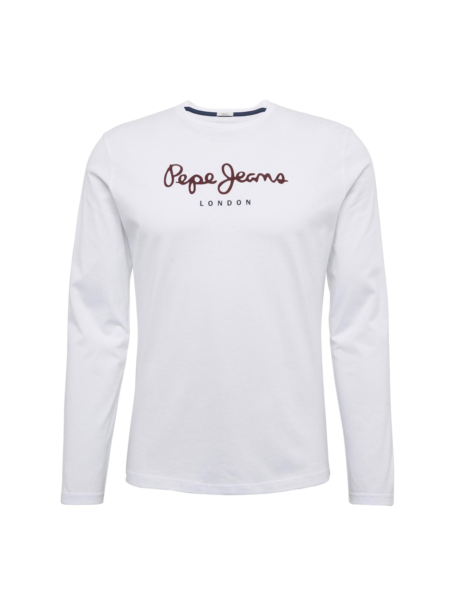 Pepe Jeans Heren Shirt EGGO LONG rood wit