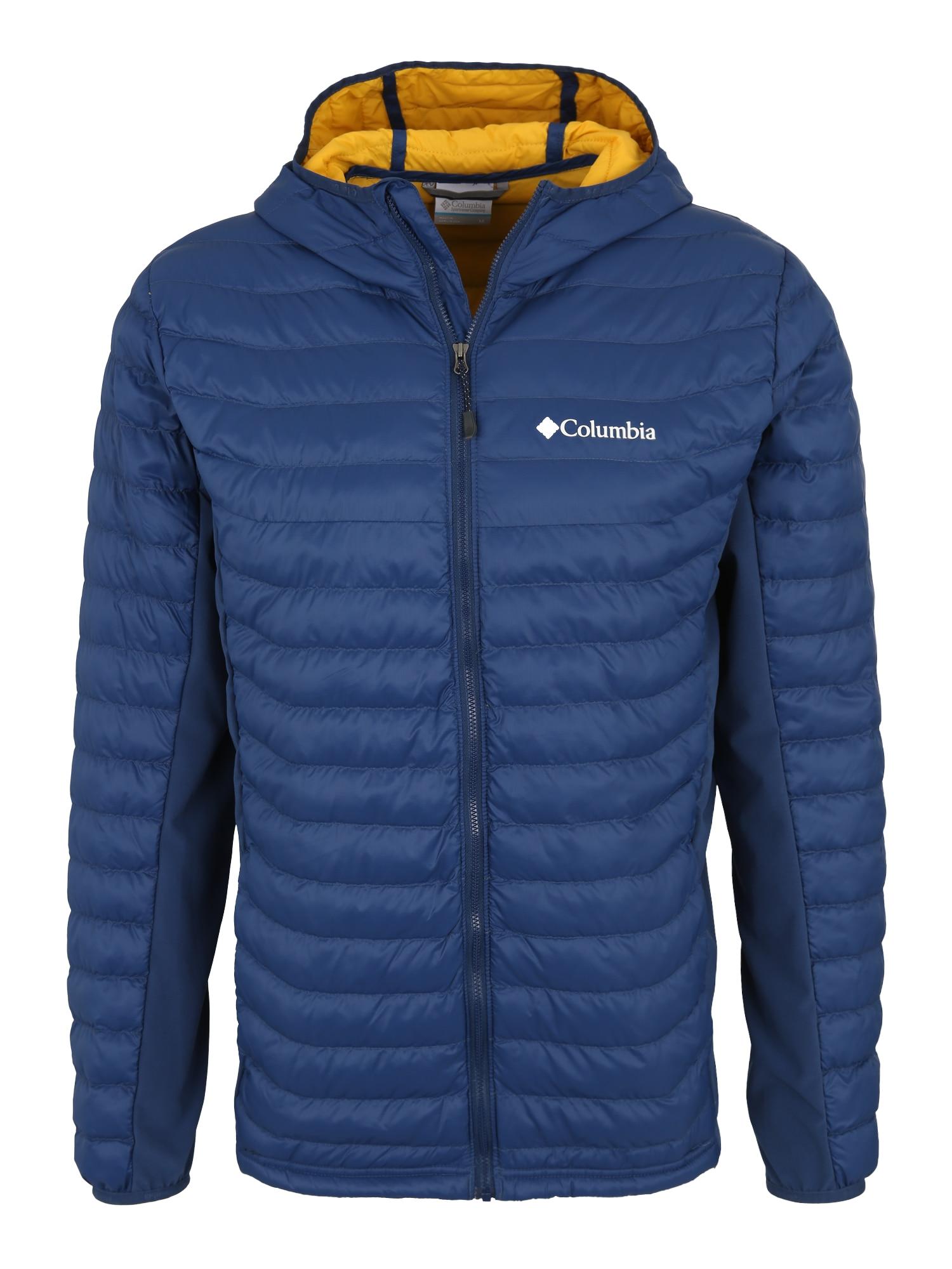 Sportovní bunda Powder Pass Hooded tmavě modrá COLUMBIA