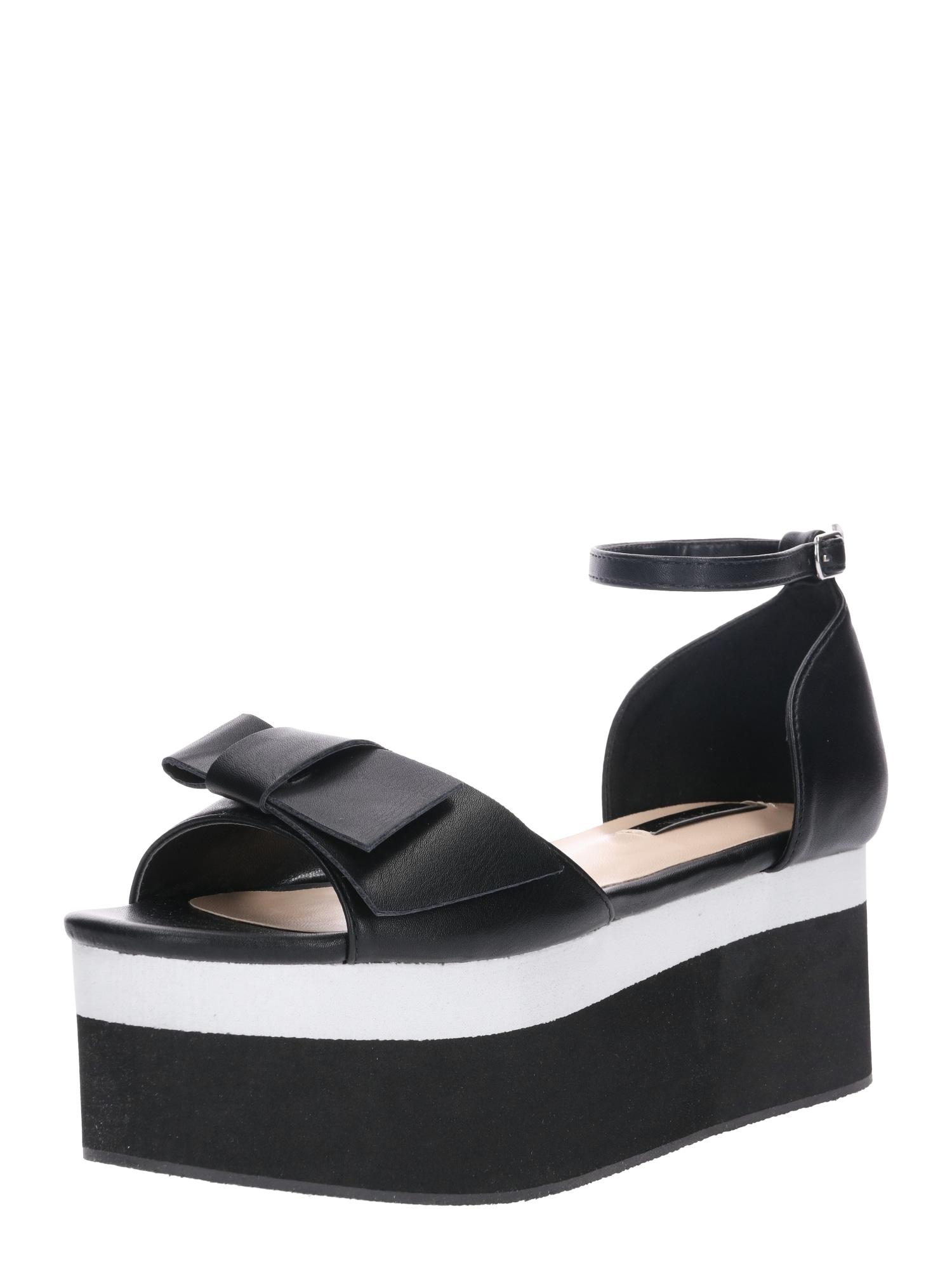 Sandály černá Lost Ink