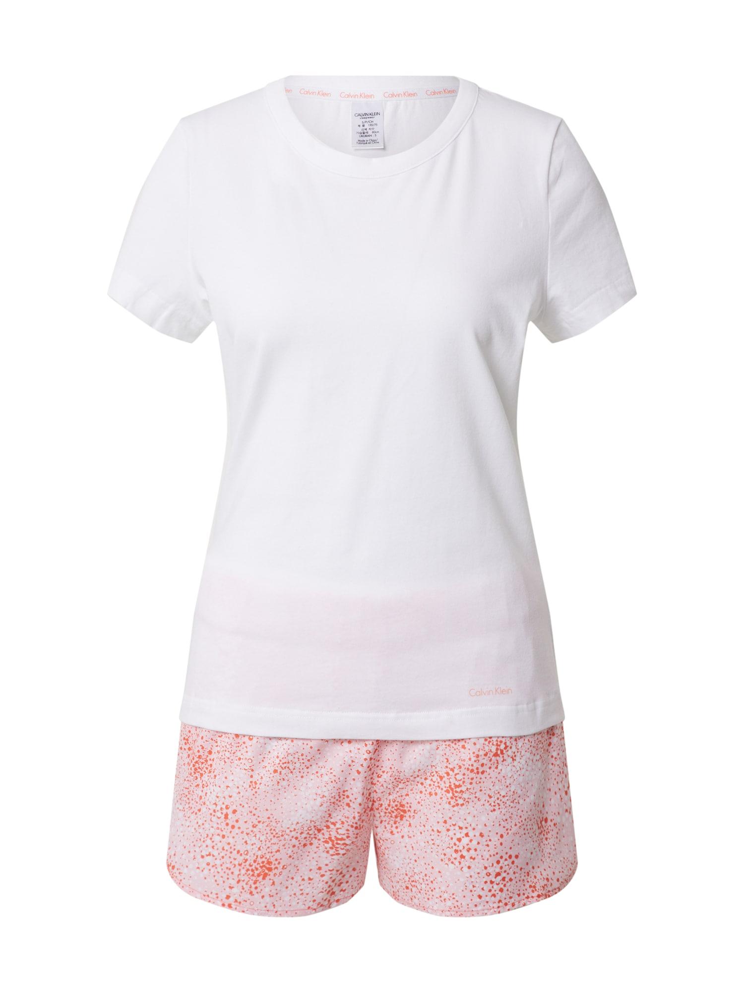 Calvin Klein Underwear Pyžamo  bílá / růžová