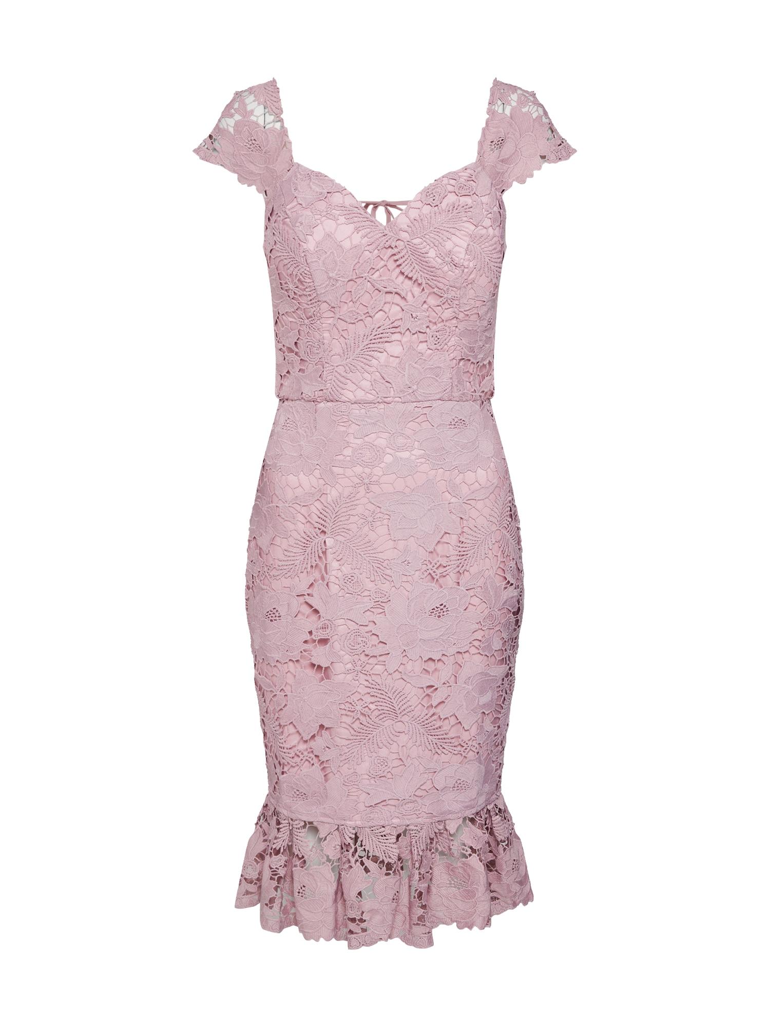 Koktejlové šaty pastelová fialová Chi Chi London