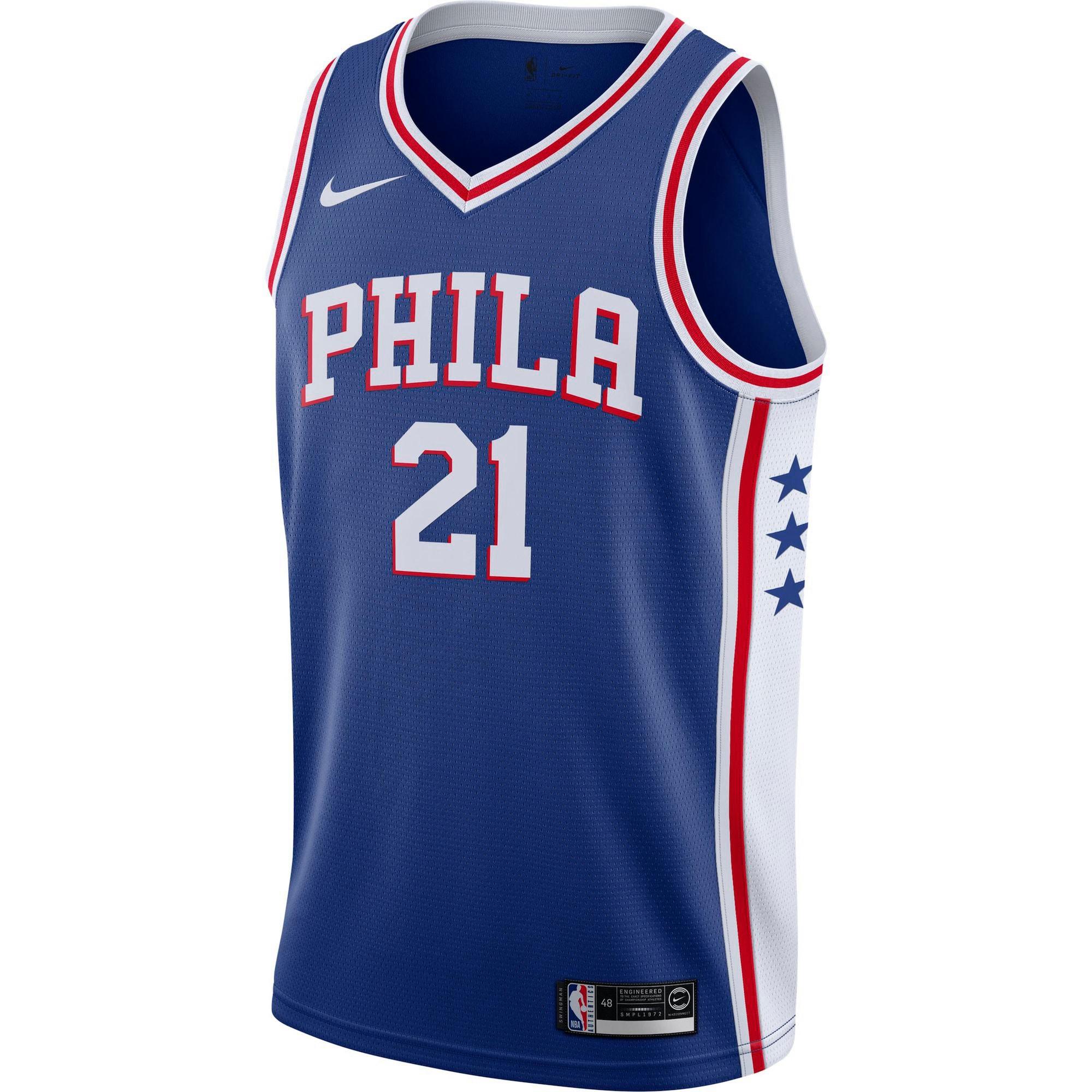 Basketballtrikot 'Joel Embiid Philadelphia 76ers' | Sportbekleidung > Trikots > Basketballtrikots | Nike